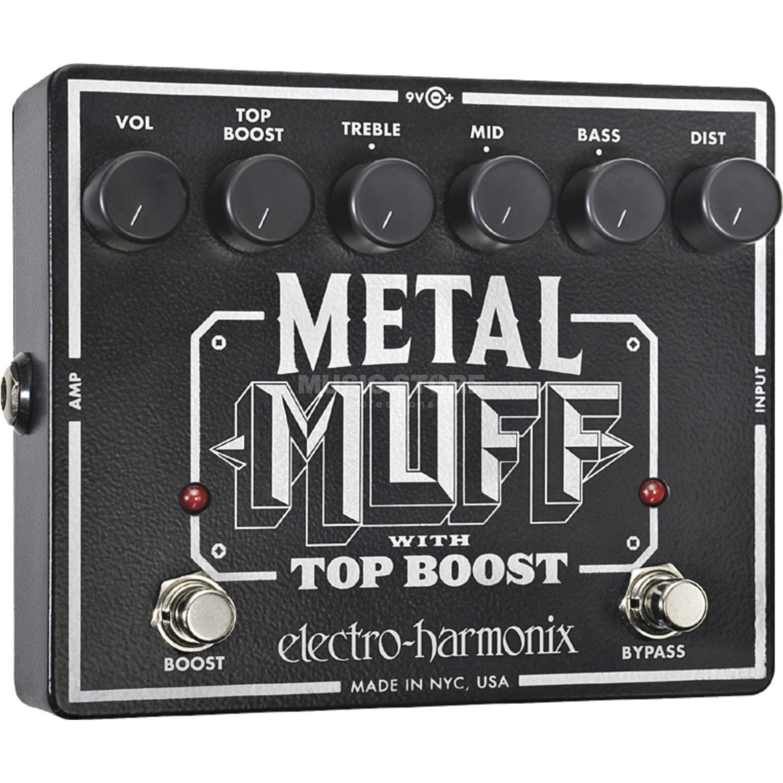 Electro Harmonix Metal Muff Guitar Effects Peda l, Distortion with Top Boost   Produktbillede