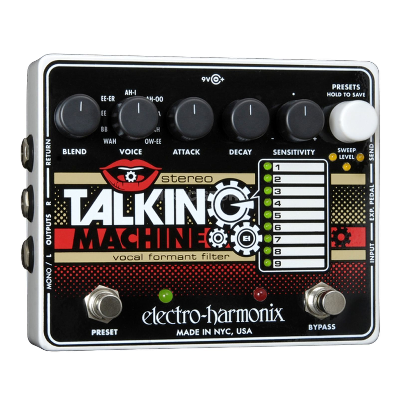 Electro Harmonix Stereo Talking Machine Guitar  Effects Pedal   Produktbillede