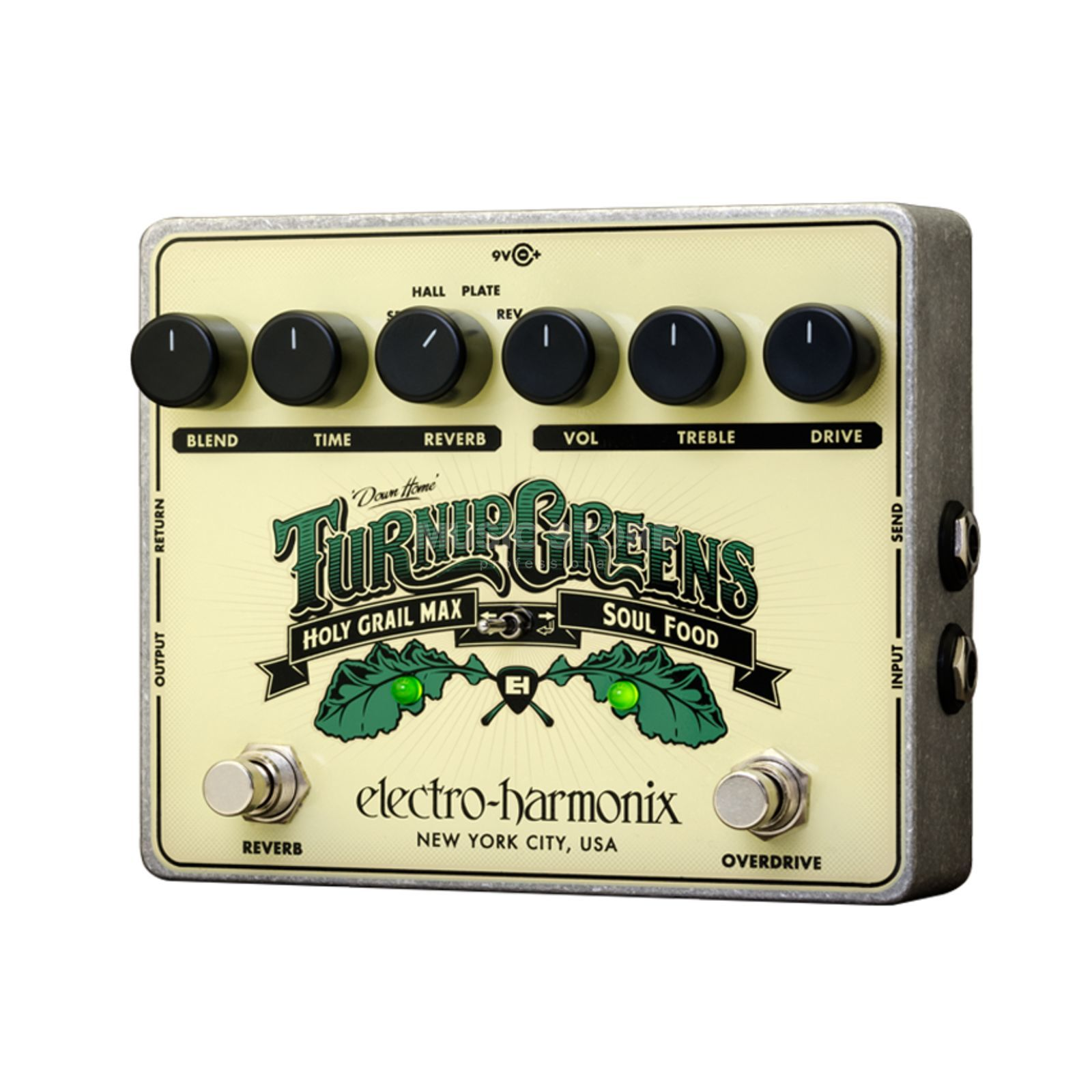 Electro Harmonix Turnip Greens Reverb/Overdrive Holy Grail/Soul Food Produktbild