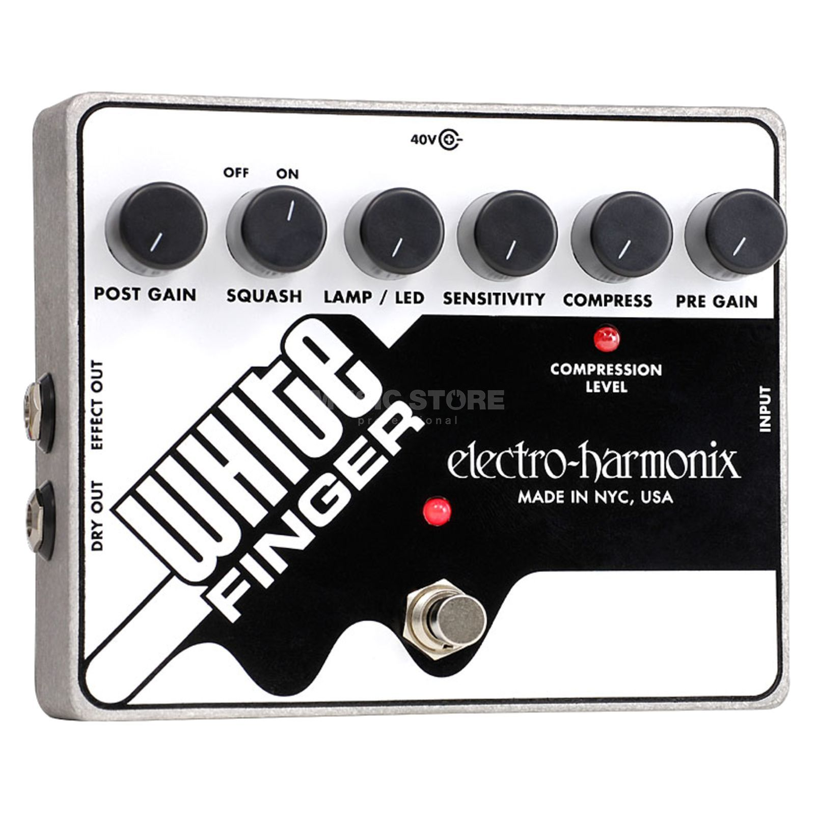 Electro Harmonix White Finger Analog Optical Compressor Produktbillede