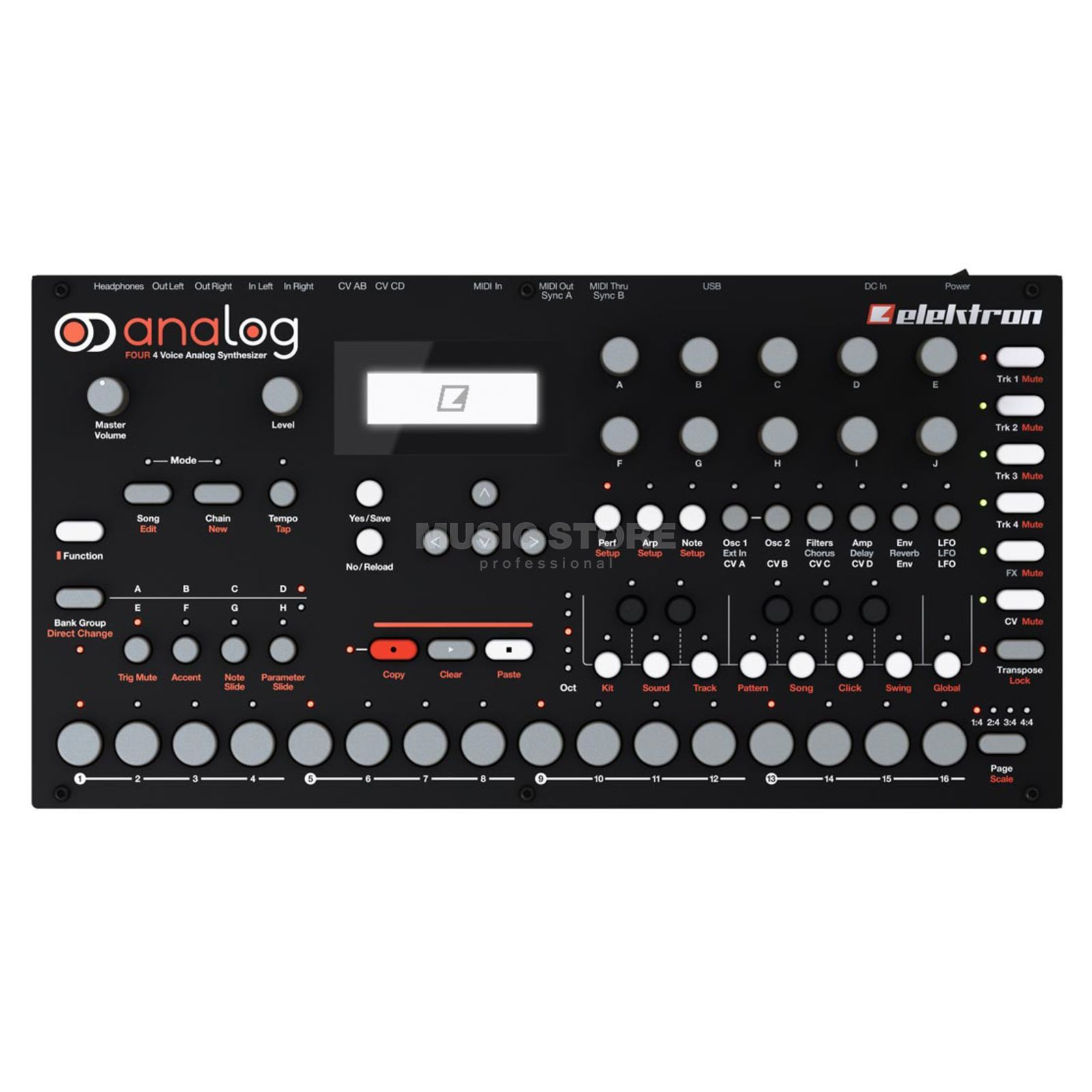 Elektron Analog Four Analog Synthesizer Produktbillede