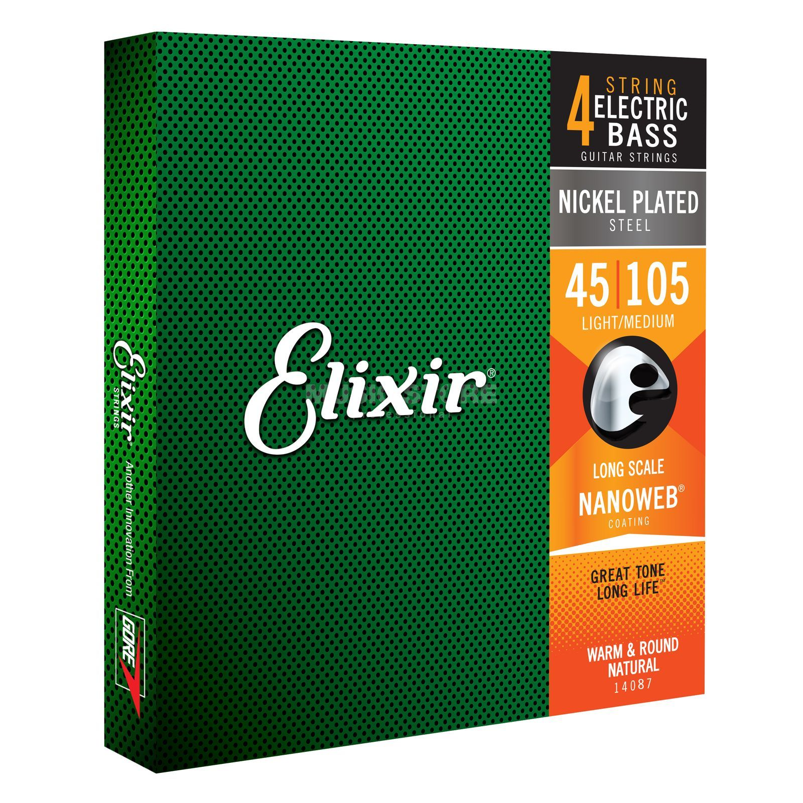 Elixir Bass Strings 45-105 NanoWeb X-Longscale Medium 14087 Produktbillede