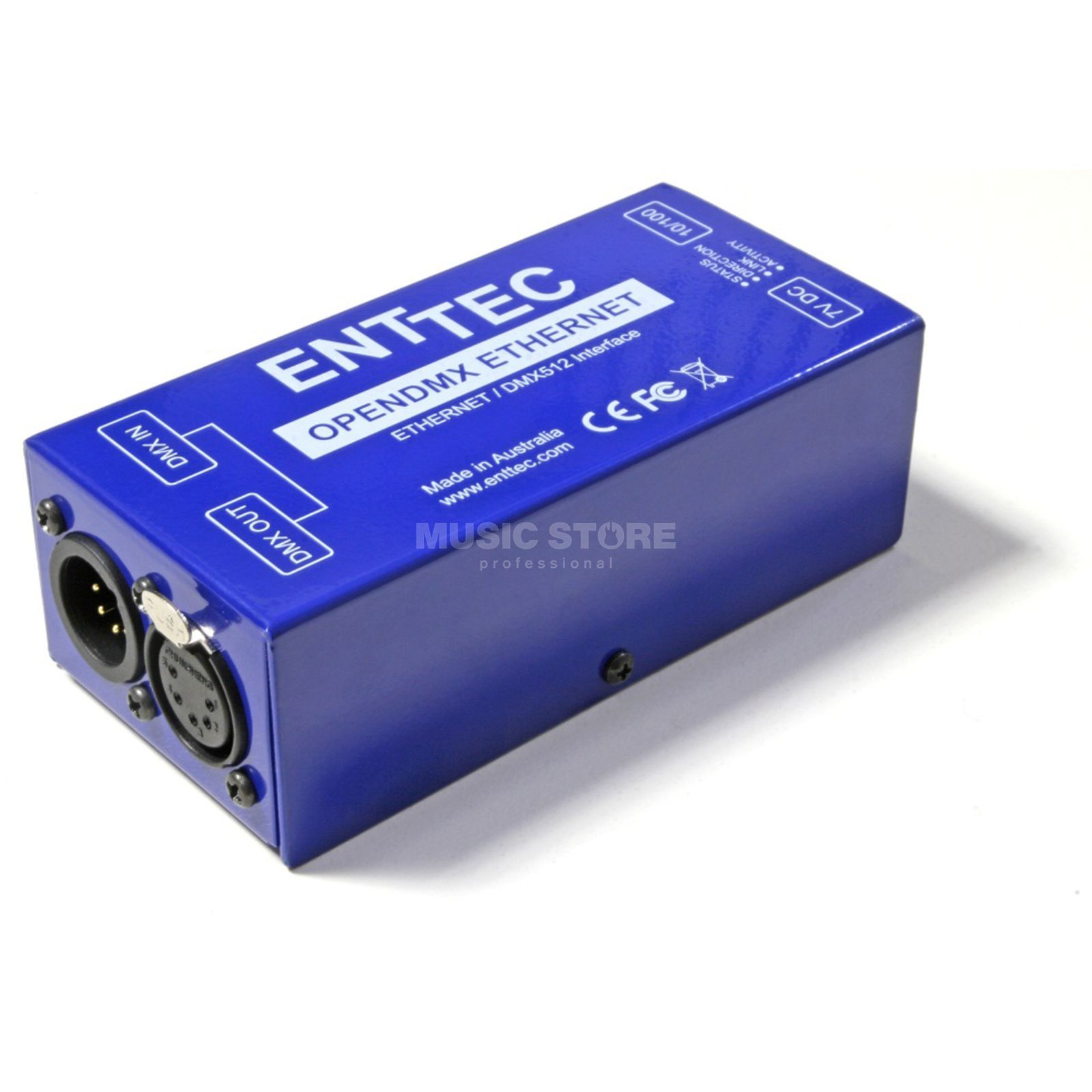 Enttec ODE Open DMX Ethernet Standard Version, DMX In/Out Produktbillede