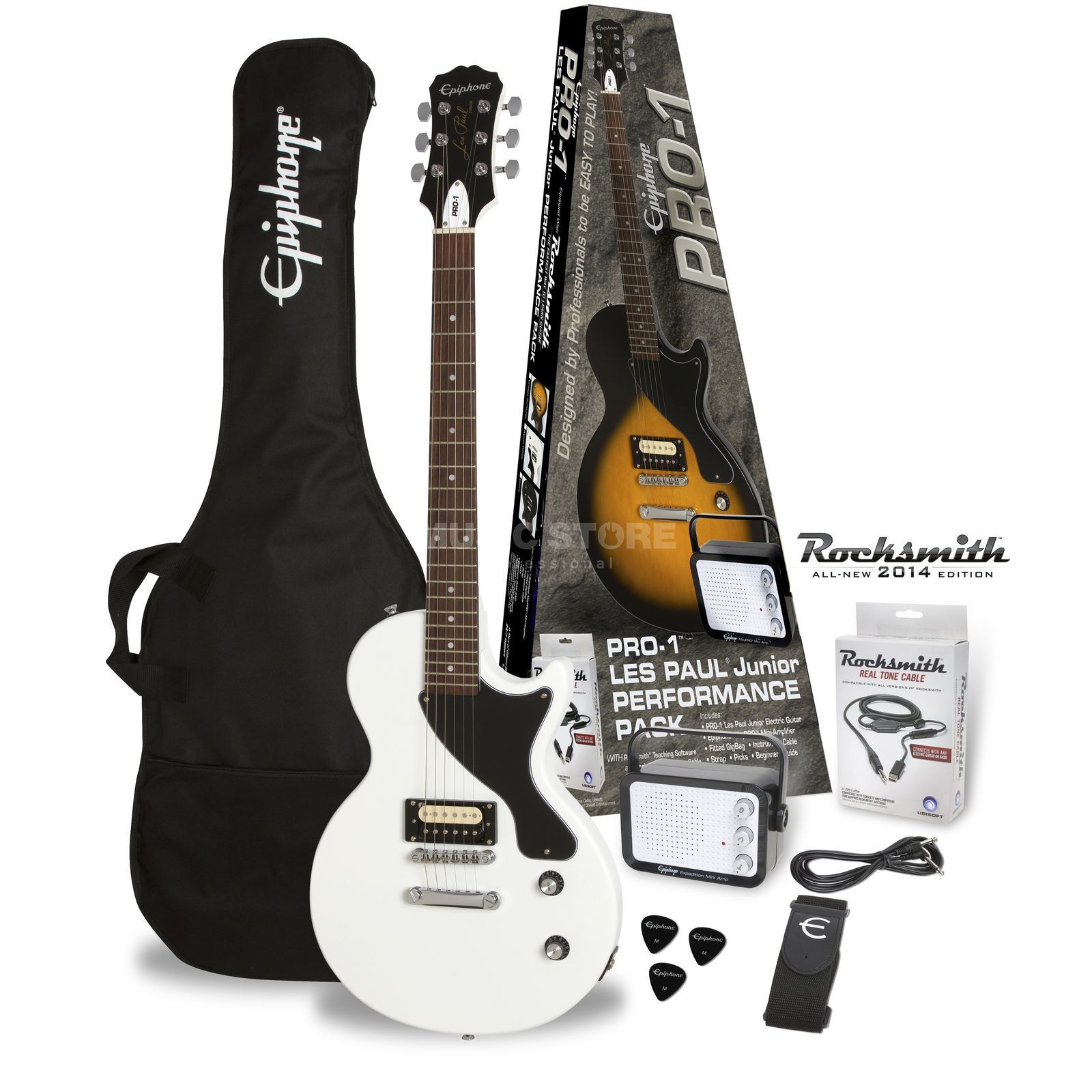 Epiphone PRO-1 Les Paul Junior Performance Pack Alpine White Product Image