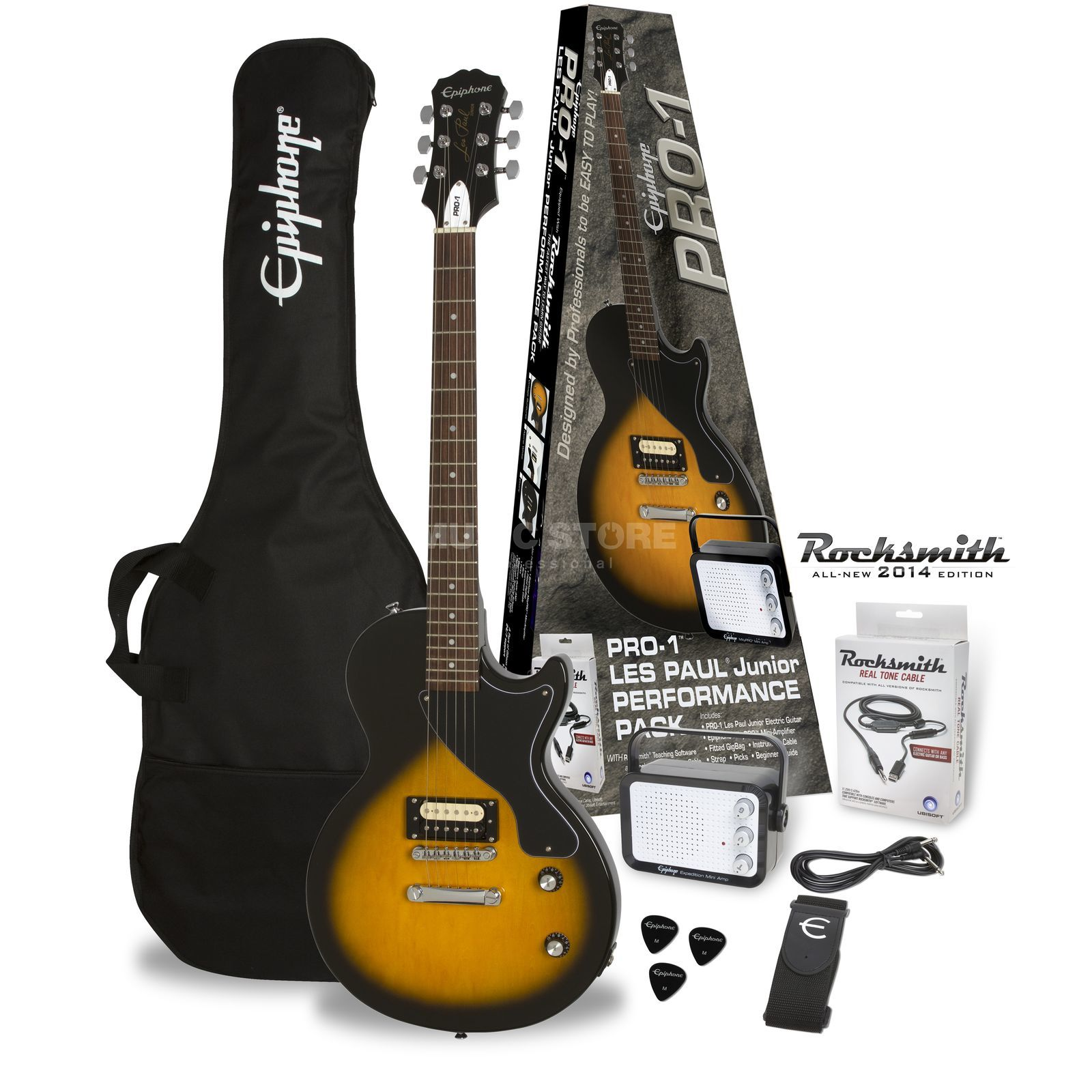 Epiphone PRO-1 Les Paul Junior Performance Pack Vintage Sunburst Produktbild