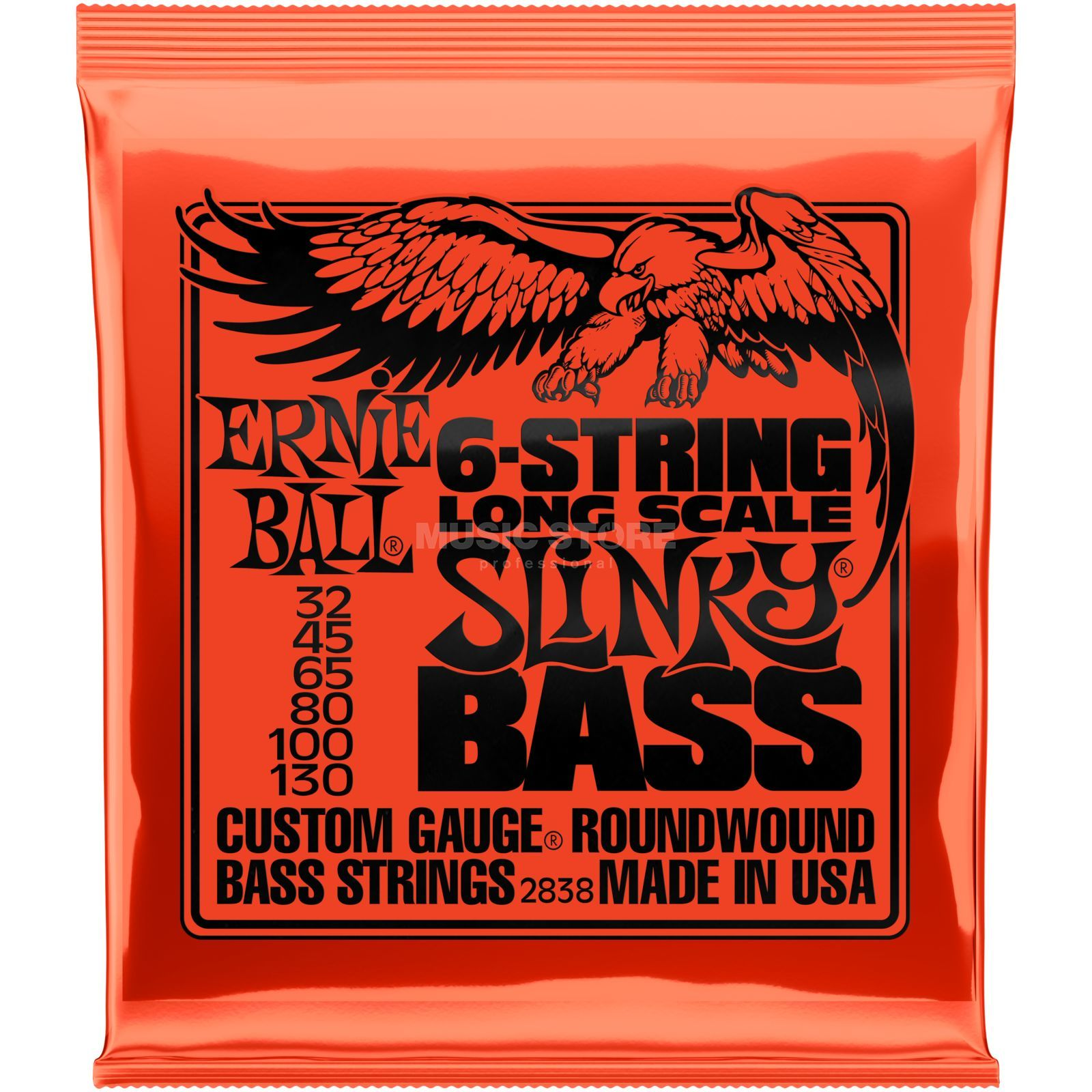 Ernie Ball Bass Strings 32-130 6-String Nickel Wound Produktbillede