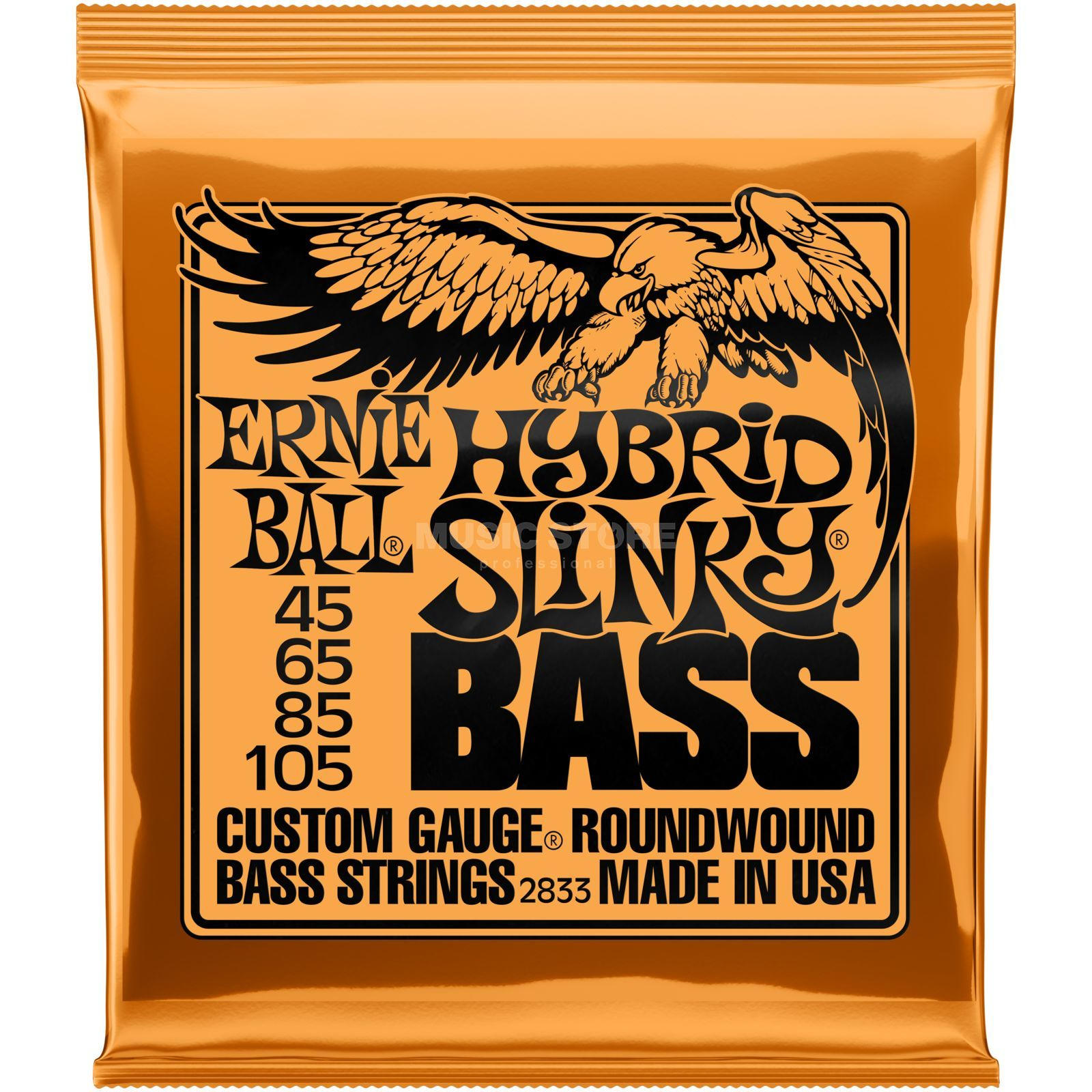 Ernie Ball Bass Strings, 45-105,HybridS Roundwound Long Scale Imagem do produto