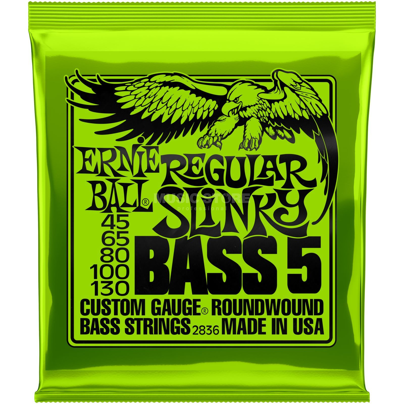 Ernie Ball Bass Strings 45-130 Regular Roundwound Long Scale Immagine prodotto