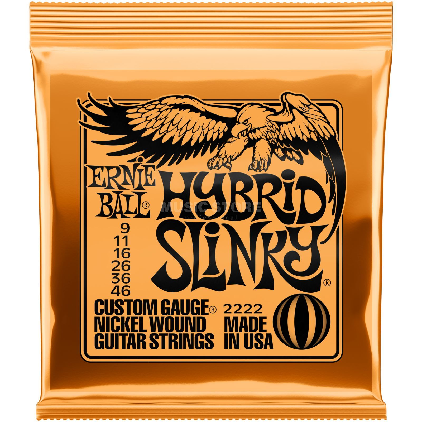 Ernie Ball E-Guit.Strings 09-46 Hybrid Slinky Nickel Wound EB2222 Product Image