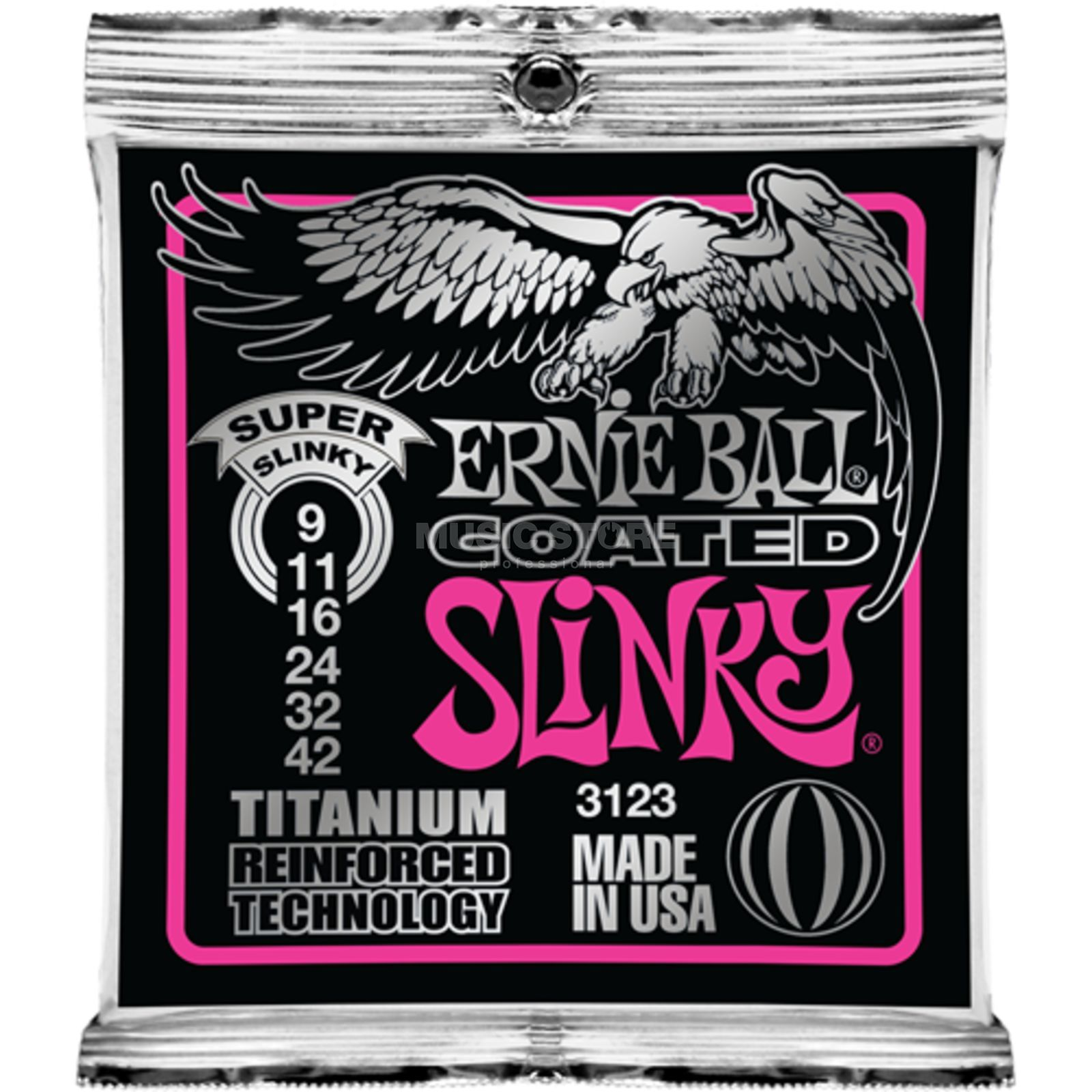 Ernie Ball E-Guitar Strings 09-42 Coated Titanium Super Slinky EB3123 Produktbillede