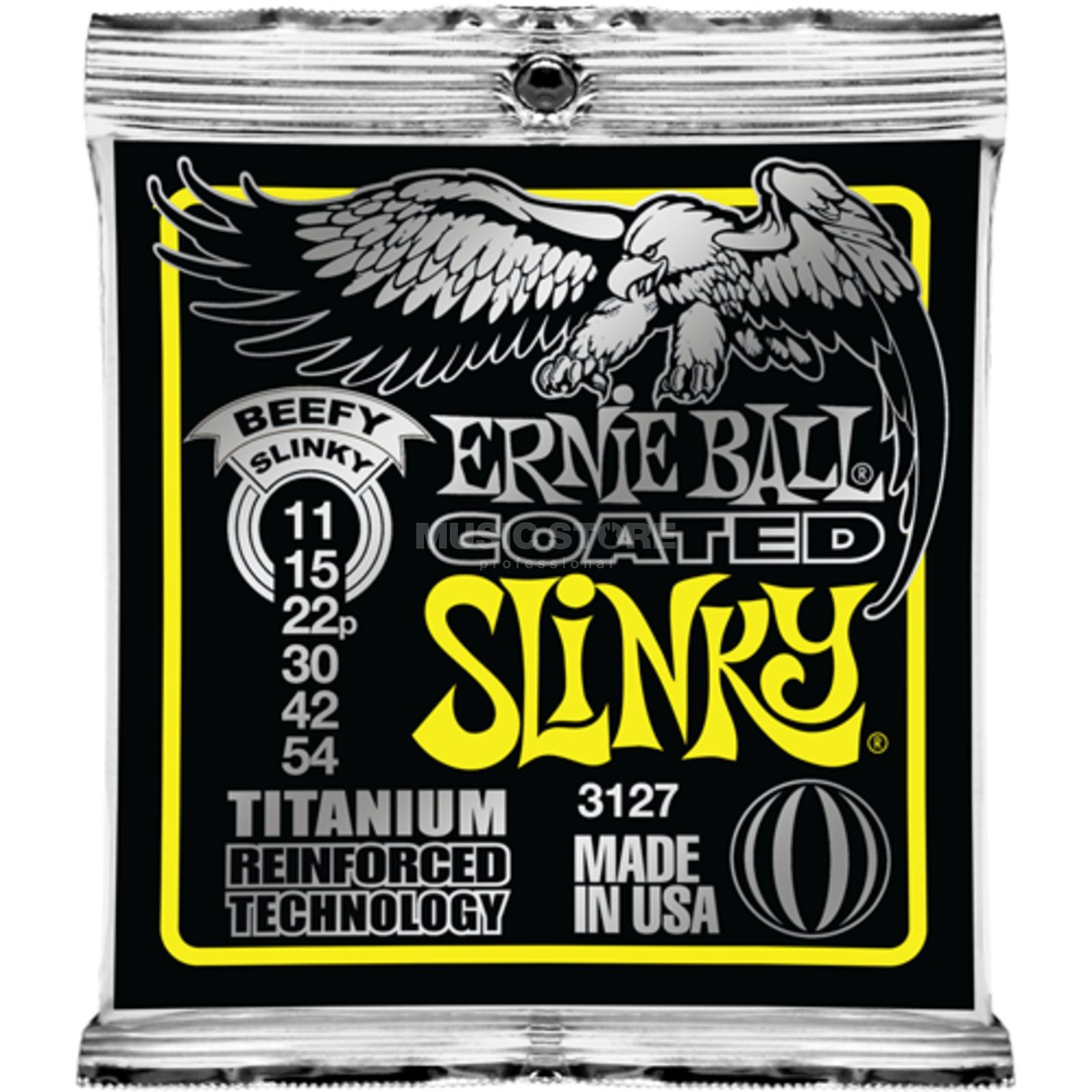 Ernie Ball E-Guitar Strings 11-54 Coated Titanium Beefy Slinky EB3127 Produktbillede