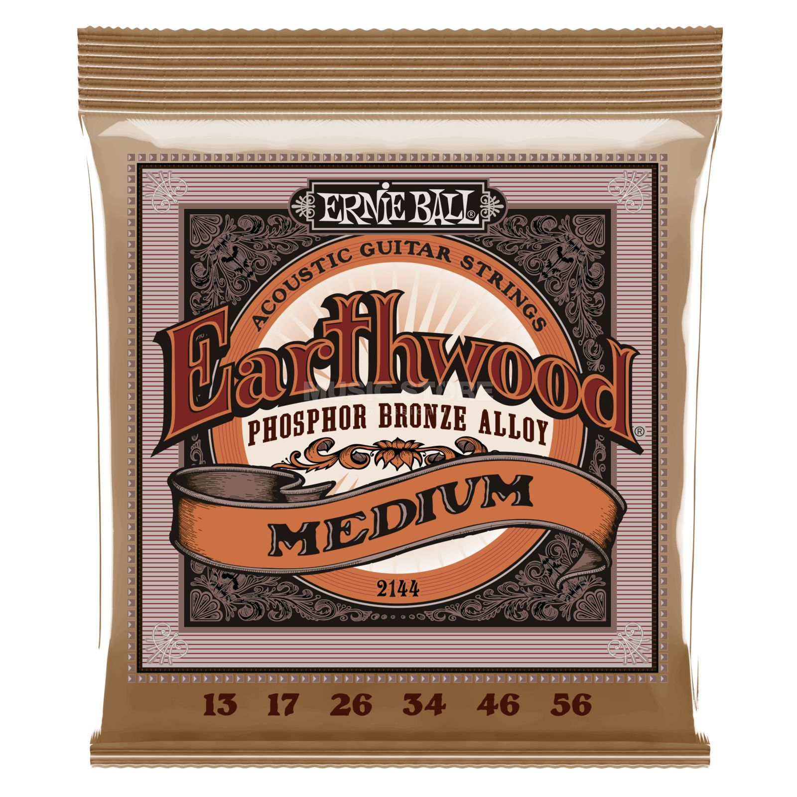 Ernie Ball EB2144 13-56 Earthwood Phosphor Bronze Power Slinky Produktbild