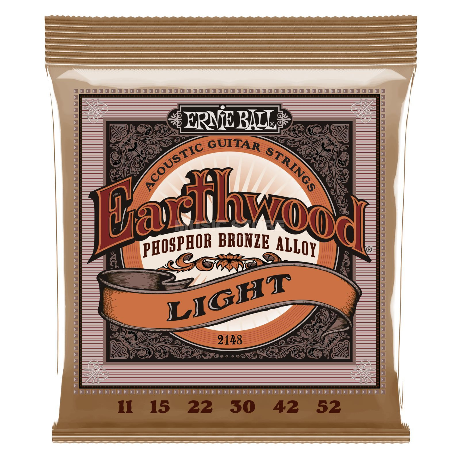 Ernie Ball EB2148 11-52 Earthwood Phosphor Bronze Super Slinky Produktbillede
