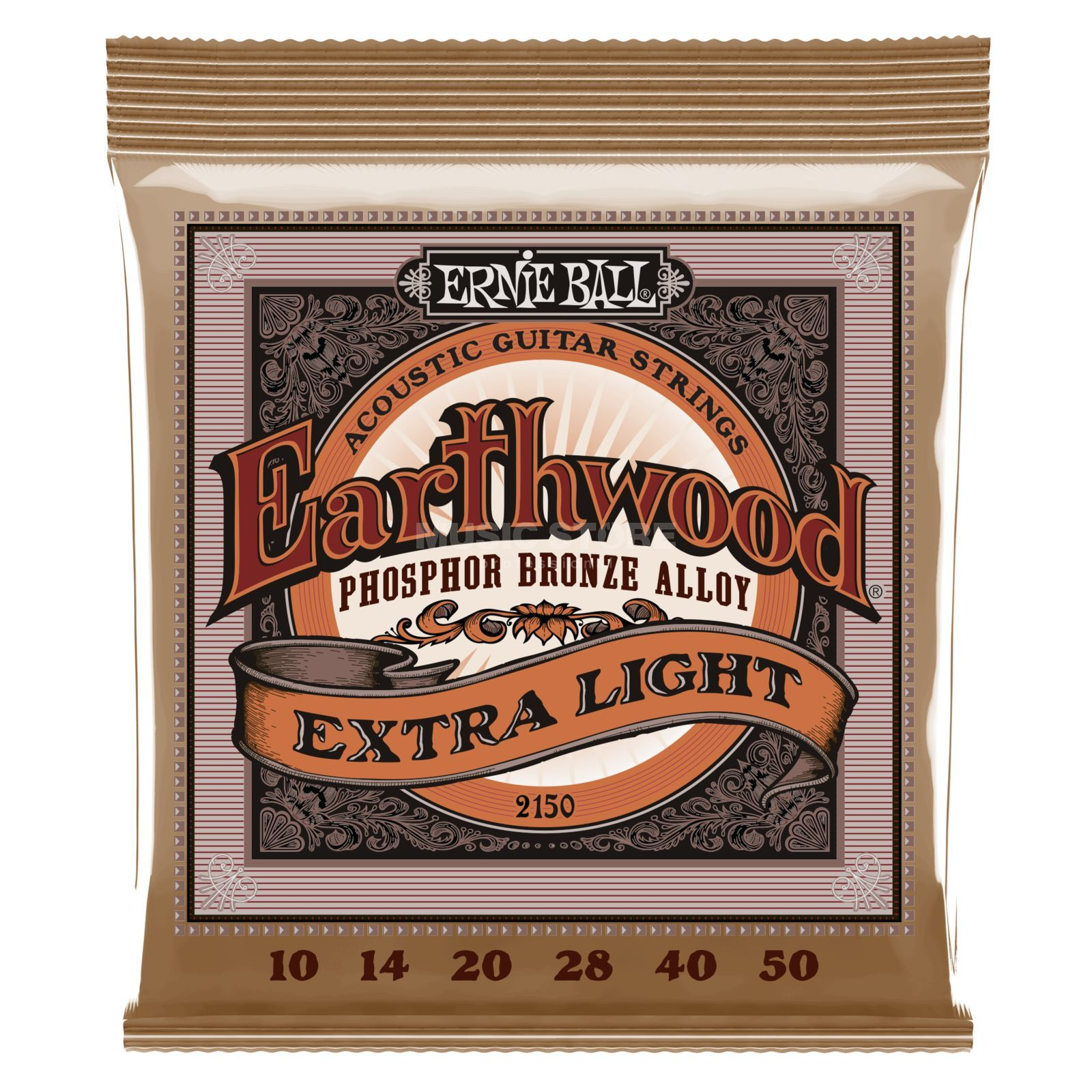 Ernie Ball EB2150 10-50 Earthwood Phosphor Bronze Extra Slinky Produktbild