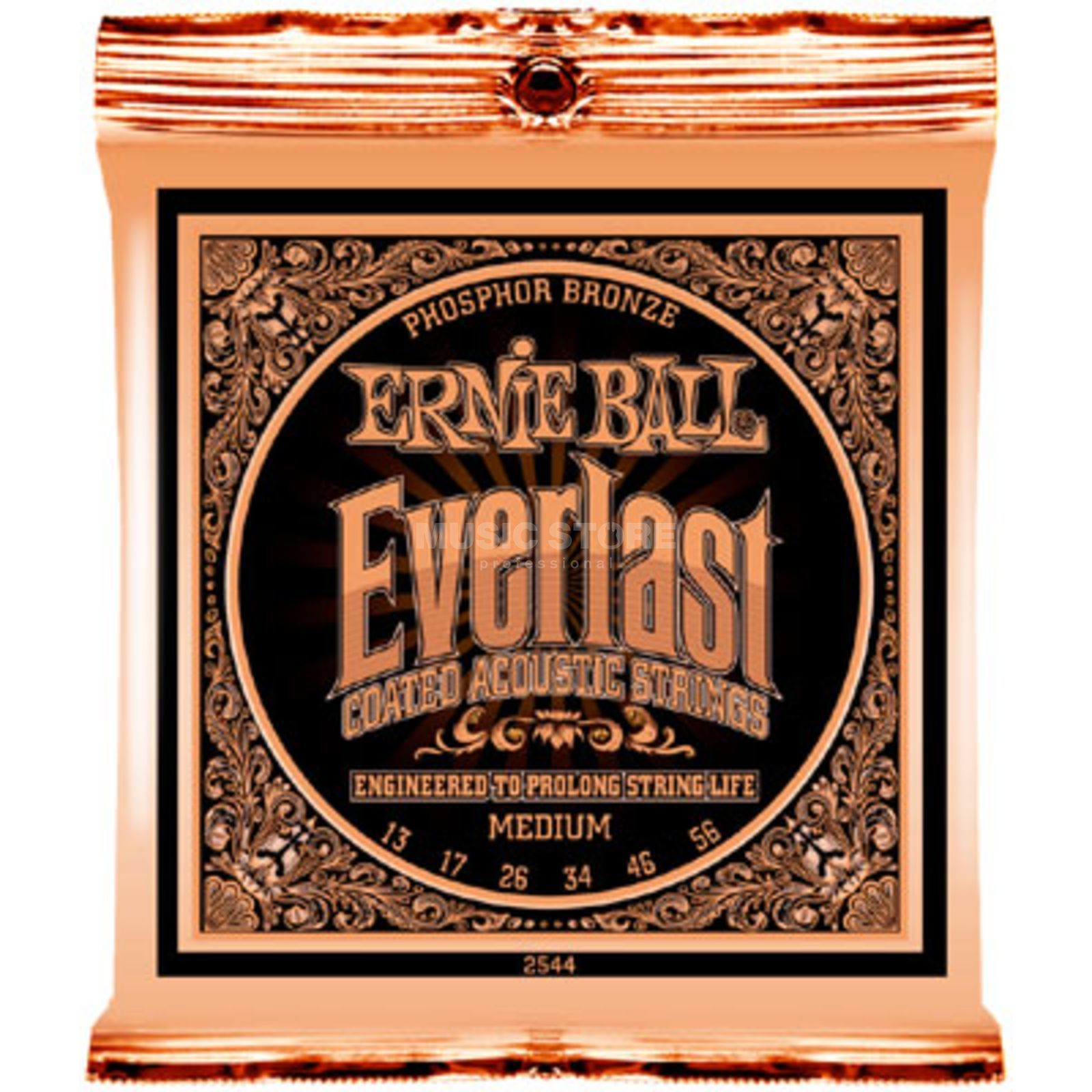 Ernie Ball EB2544 13-56 Everlast Coated Phosphor Bronze Medium Produktbild