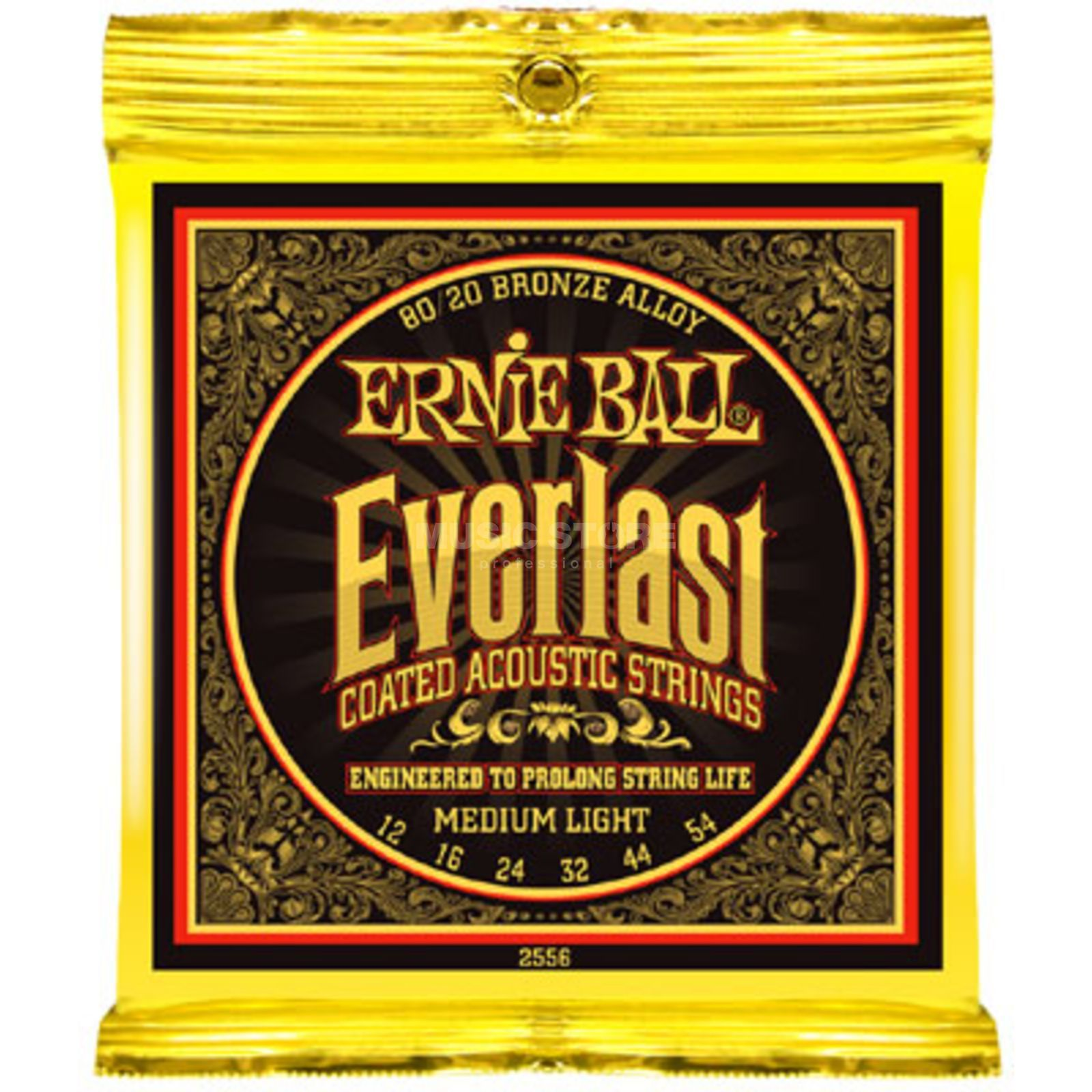 Ernie Ball EB2556 12-54 Everlast Coated 80/20 Bronze Medium Light Produktbild