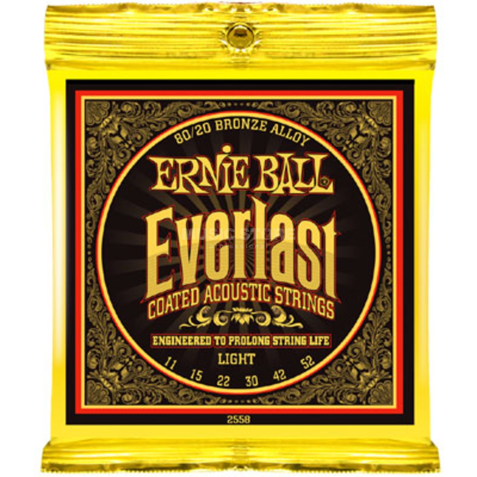 Ernie Ball EB2558 11-52 Everlast Coated 80/20 Bronze Light Produktbild