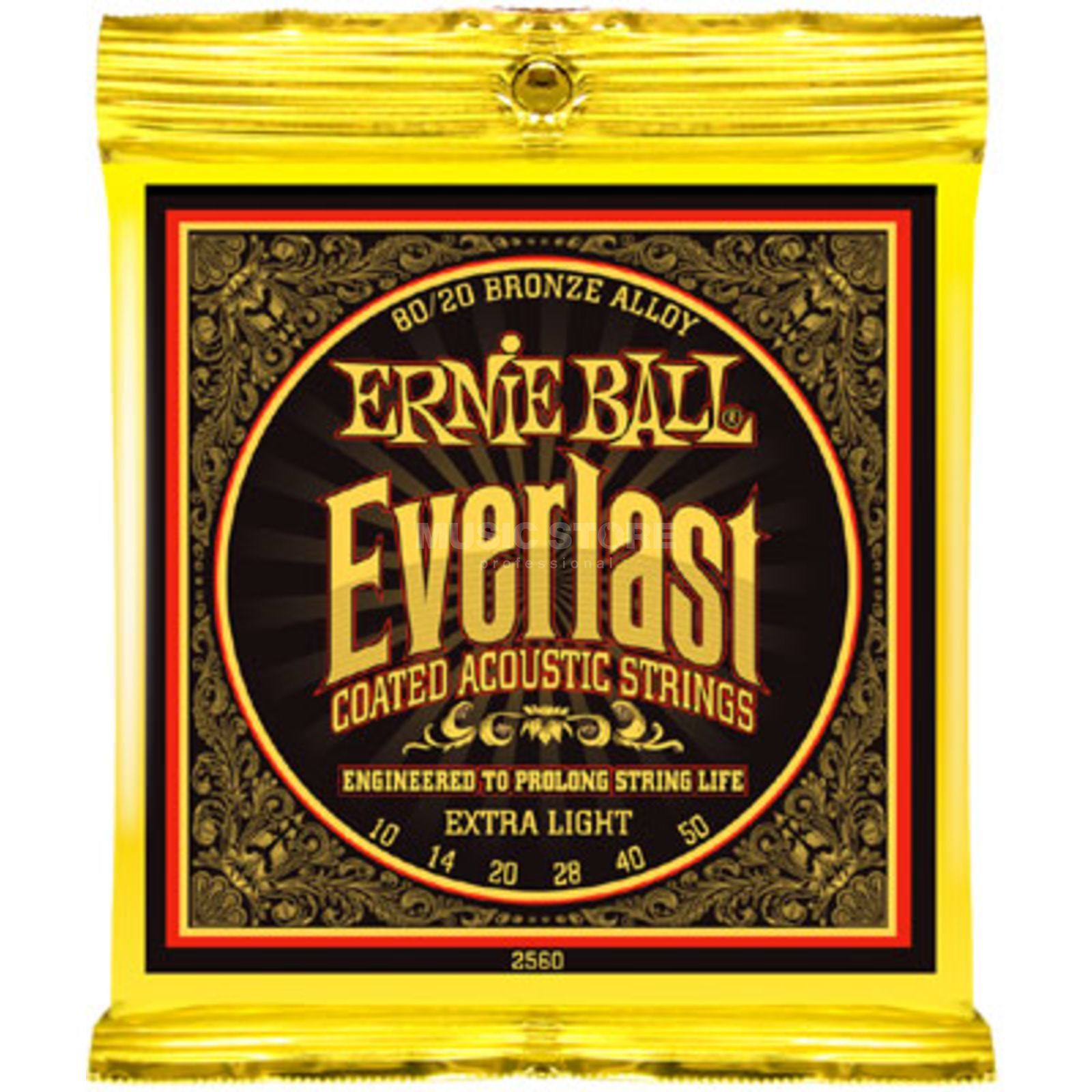 Ernie Ball EB2560 10-50 Everlast Coated 80/20 Bronze Extra Light Produktbild