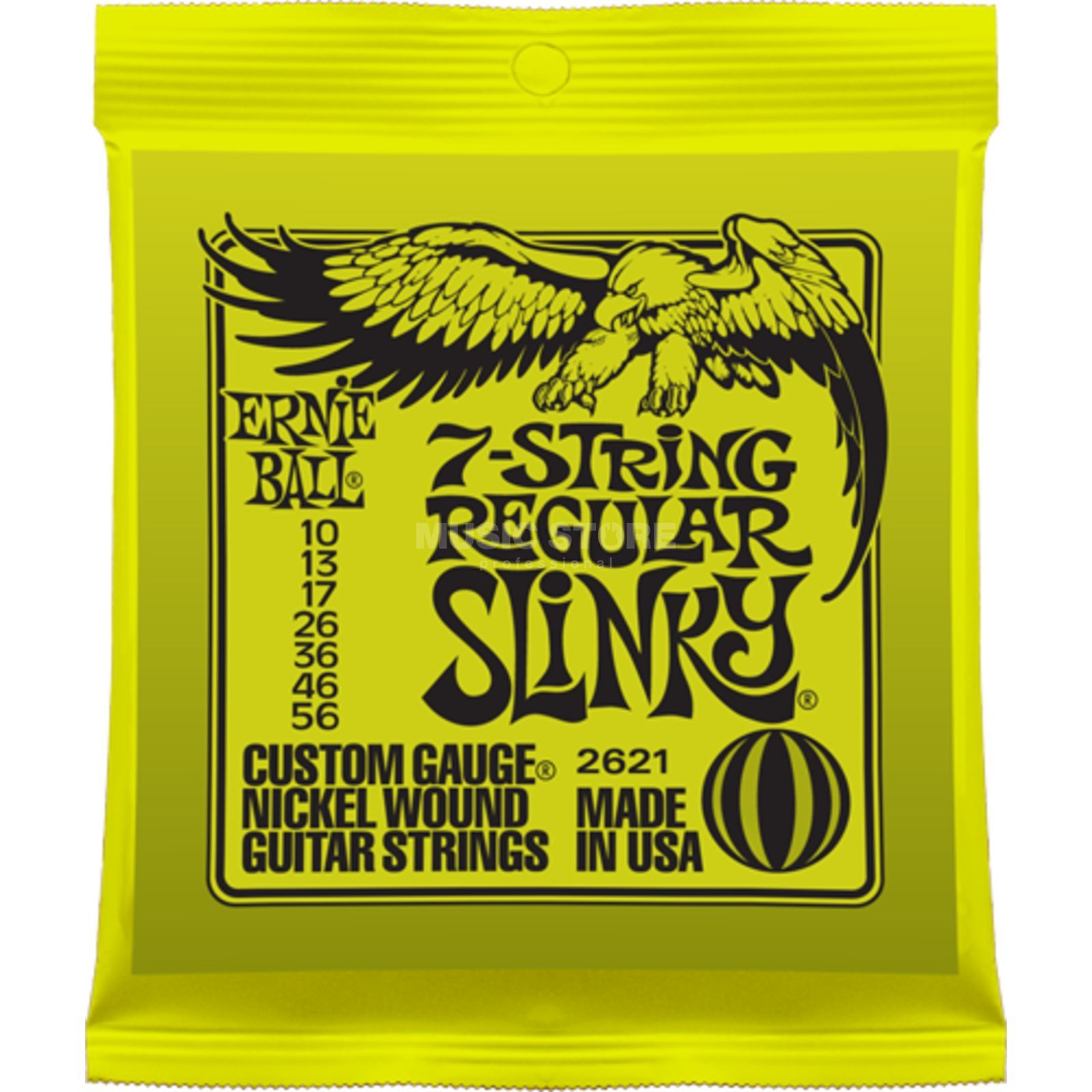 Ernie Ball EB2621 10-56 7-string Regular Slinky Nickel Plated Produktbild