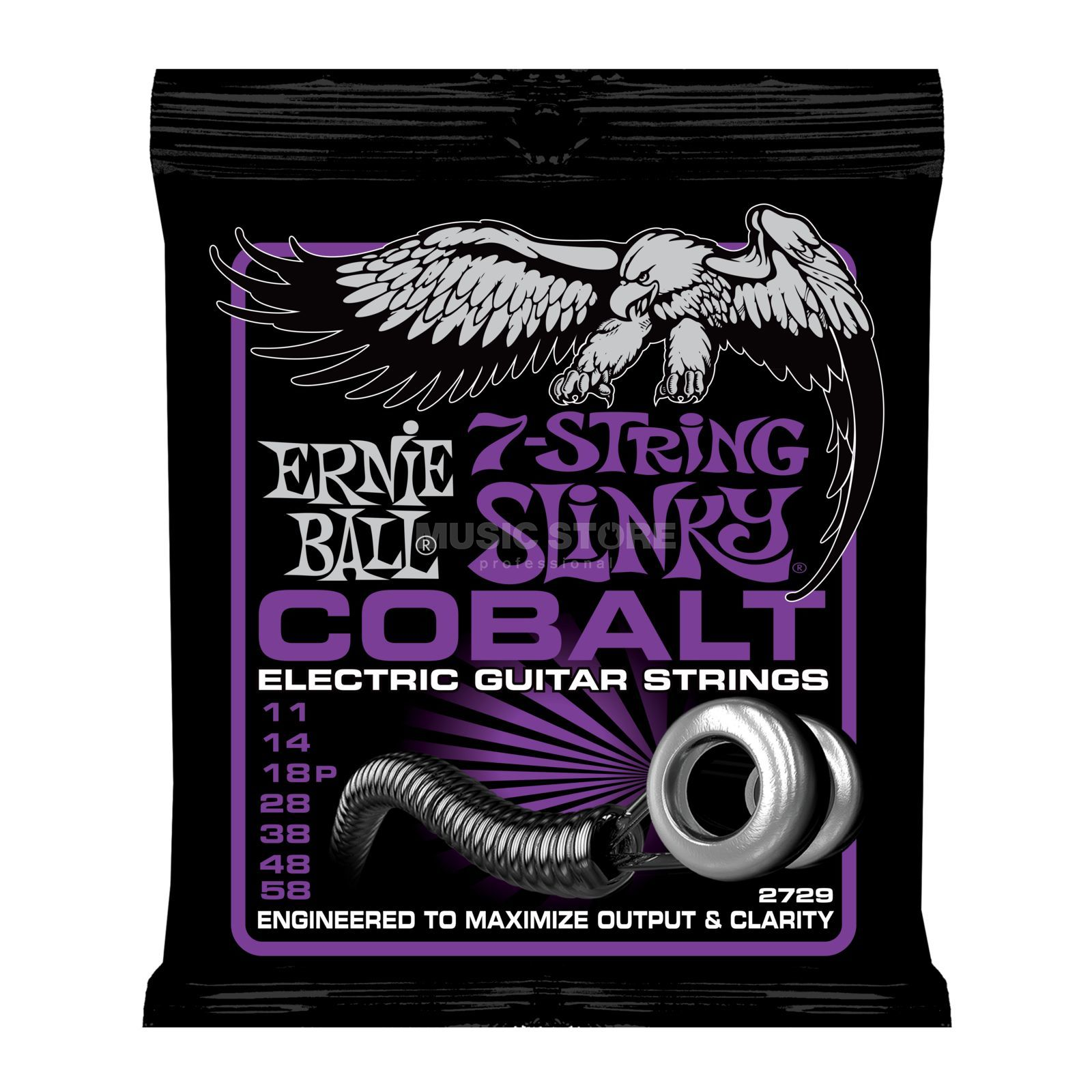Ernie Ball EB2729 11-58 Cobalt 7-string Power Produktbillede