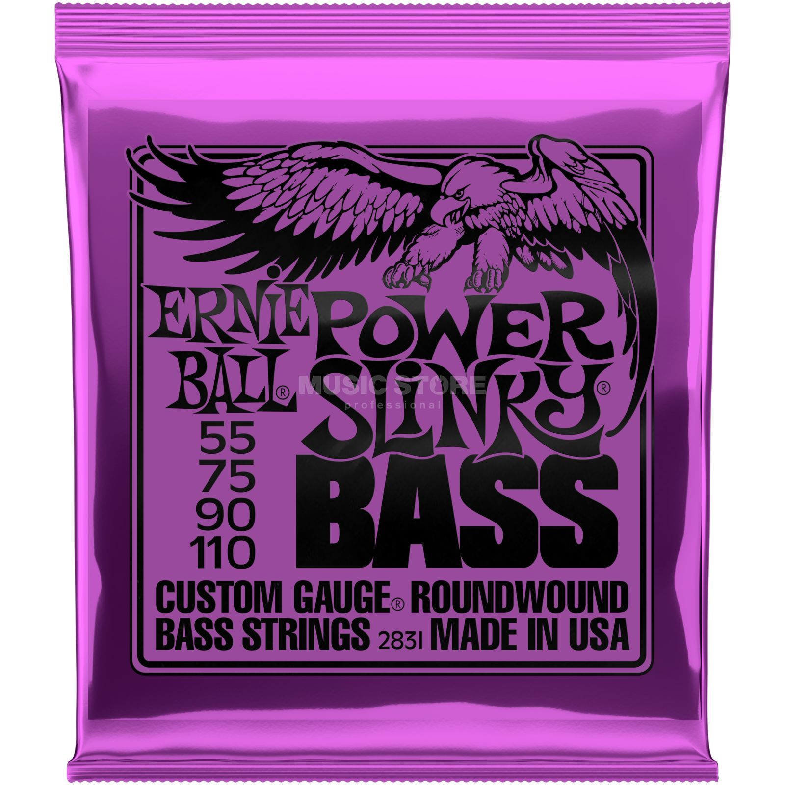 Ernie Ball EB2831 55-110 Power Slinky nikkel Plated Productafbeelding