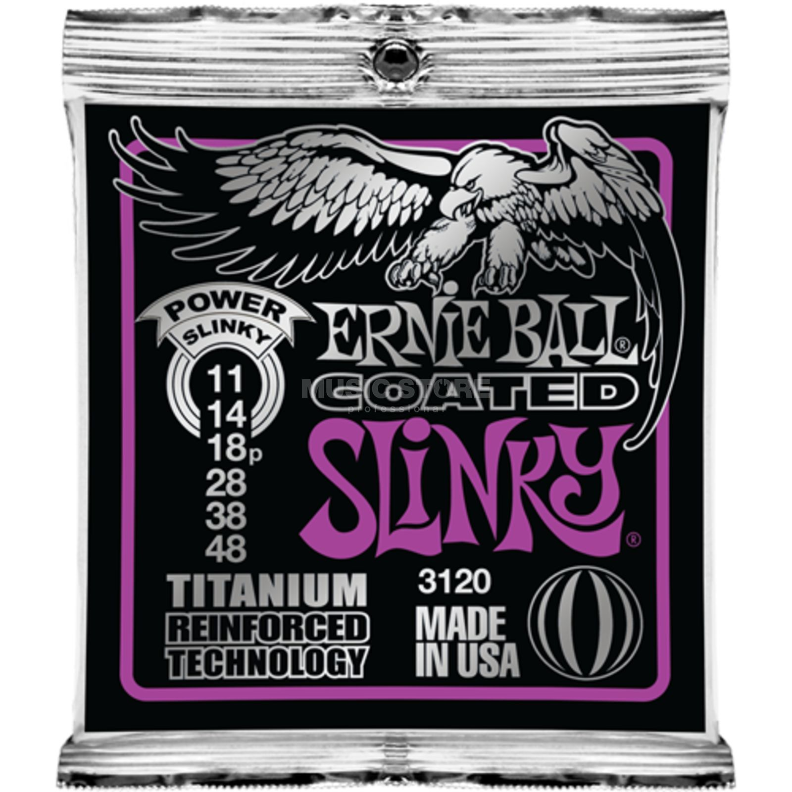 Ernie Ball EB3120 11-48 Coated Titanium RPS Power Slinky Produktbild