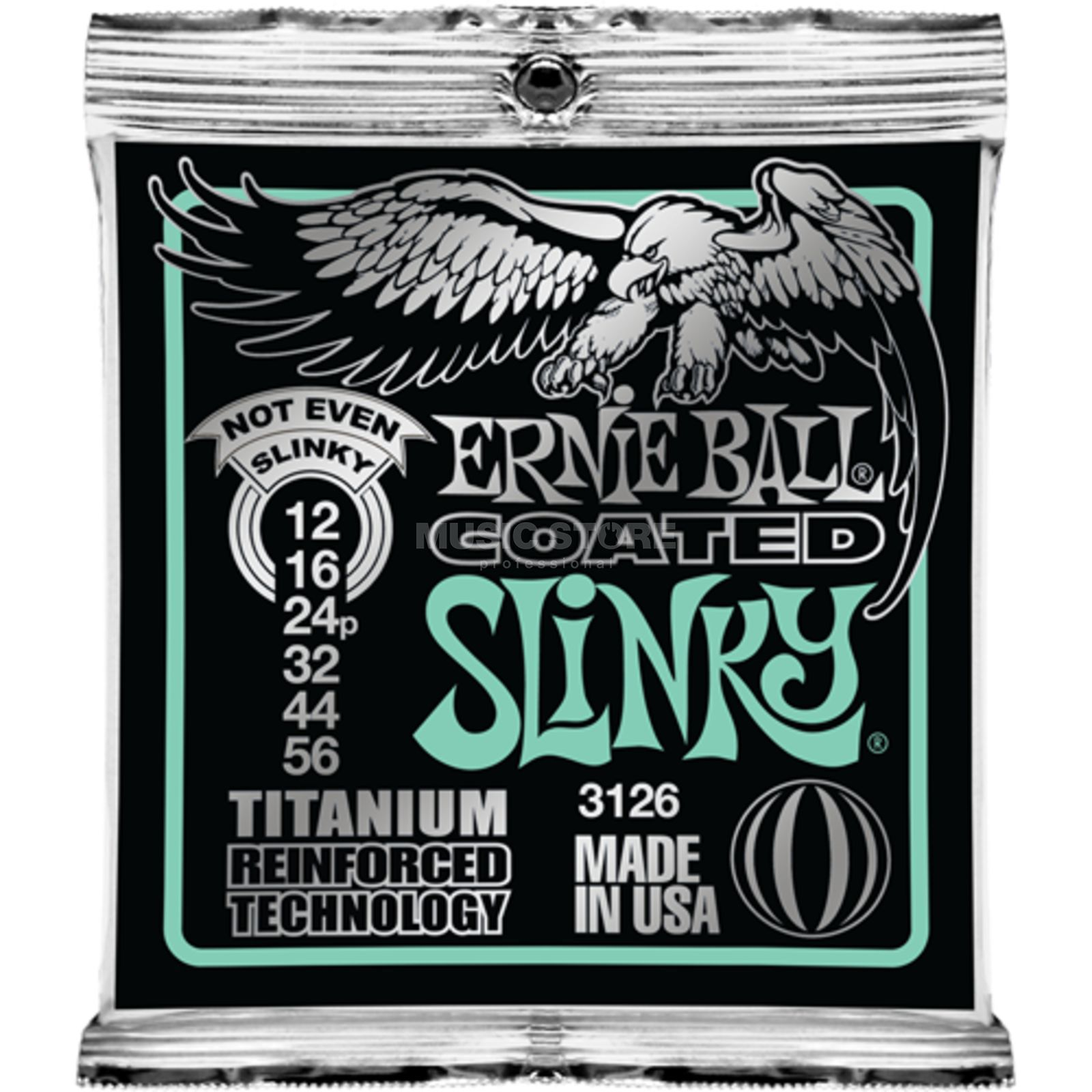 Ernie Ball EB3126 12-56 Coated Titanium RPS Not Even Slinky Produktbild