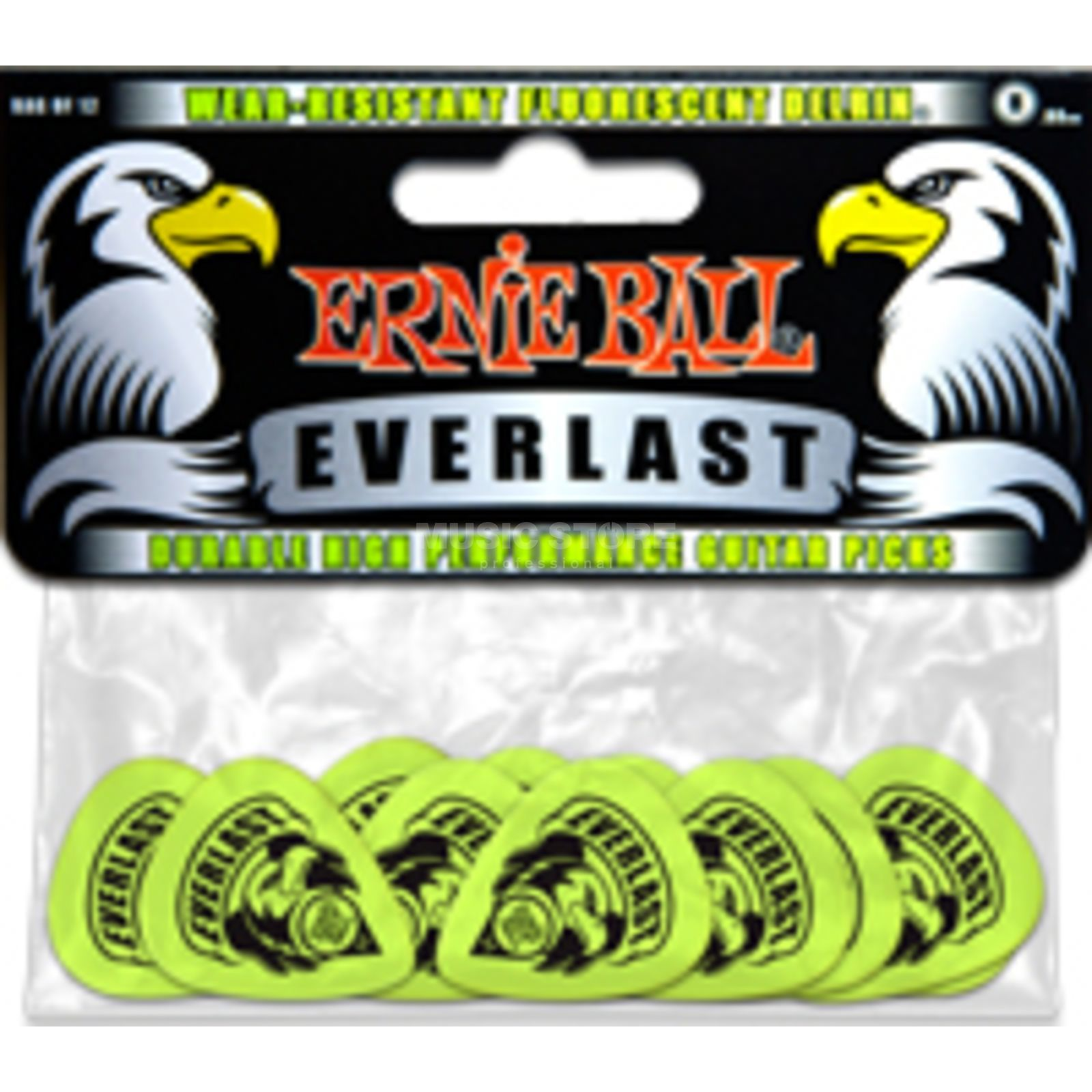 Ernie Ball EB9191 Everlast Picks Heavy Green 12er Set Produktbild