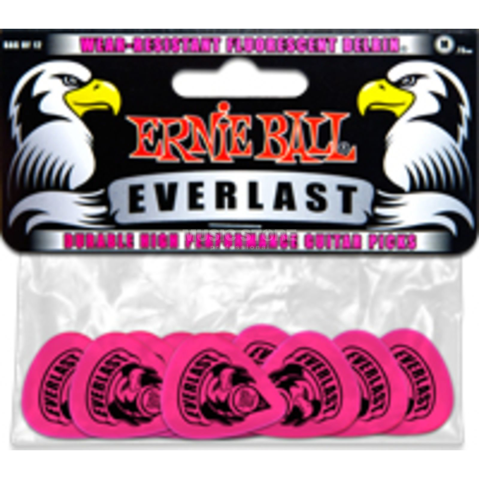 Ernie Ball Everlast Picks Medium Pink Box of 12 Produktbillede