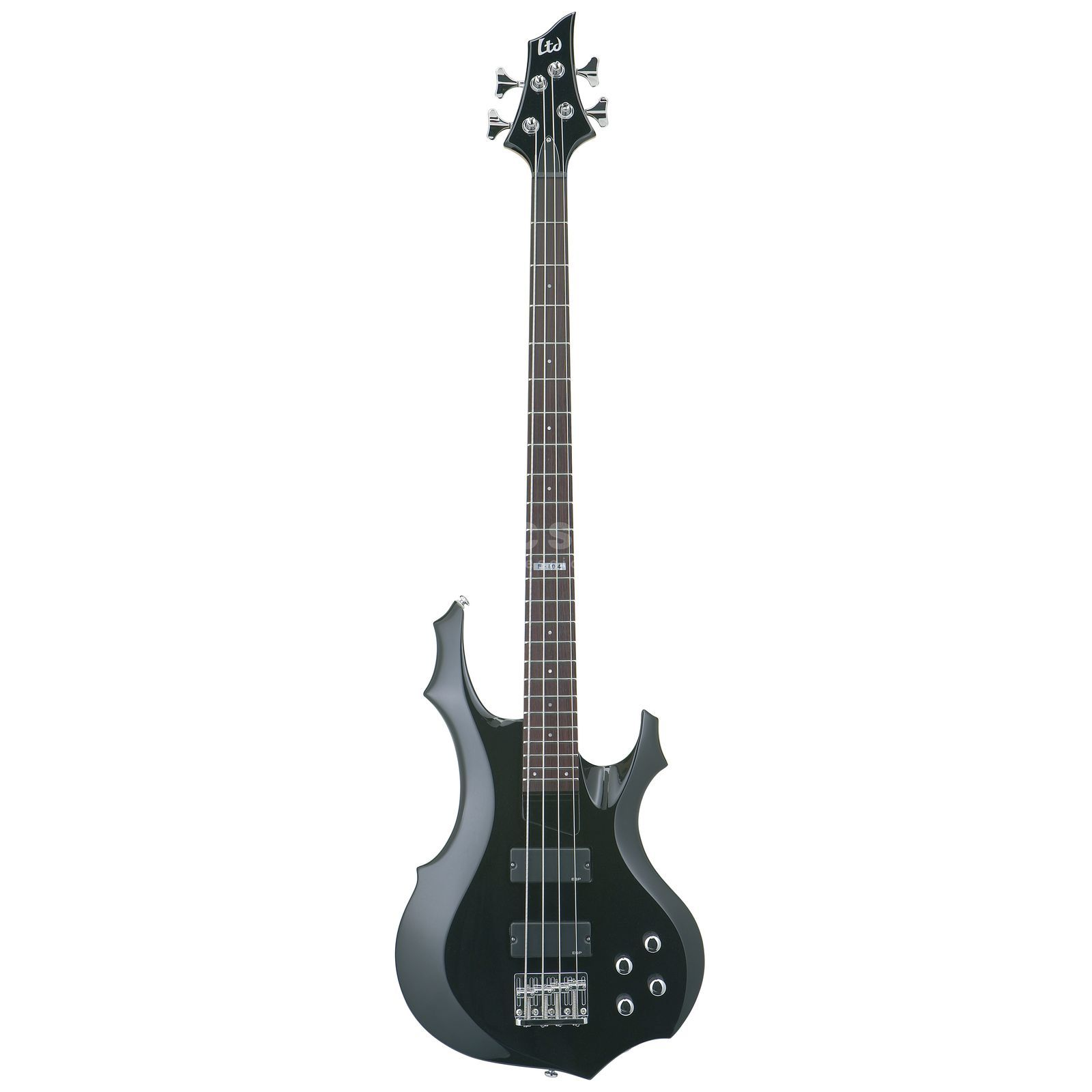 ESP LTD F-104 Active Bass Guitar,  Black   Product Image