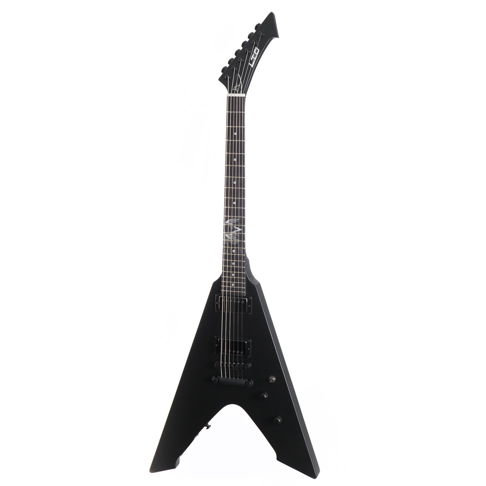 ESP LTD Vulture Black Satin James Hetfield Signature Product Image