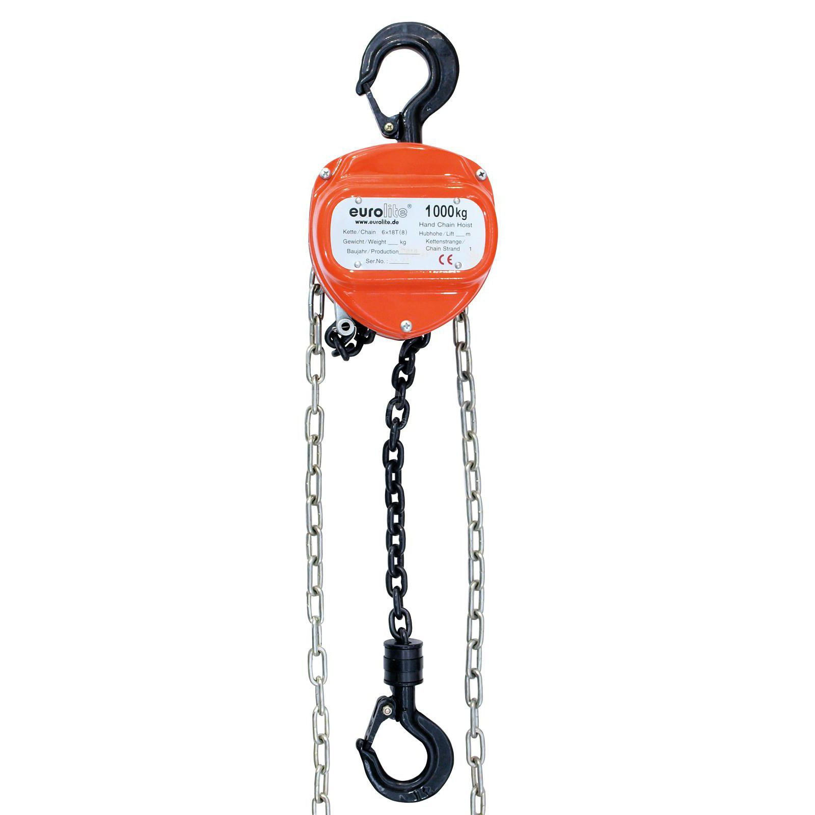 Eurolite Chain Hoist 10M/1.0T 1000kg, Lifting Height 10m Produktbillede