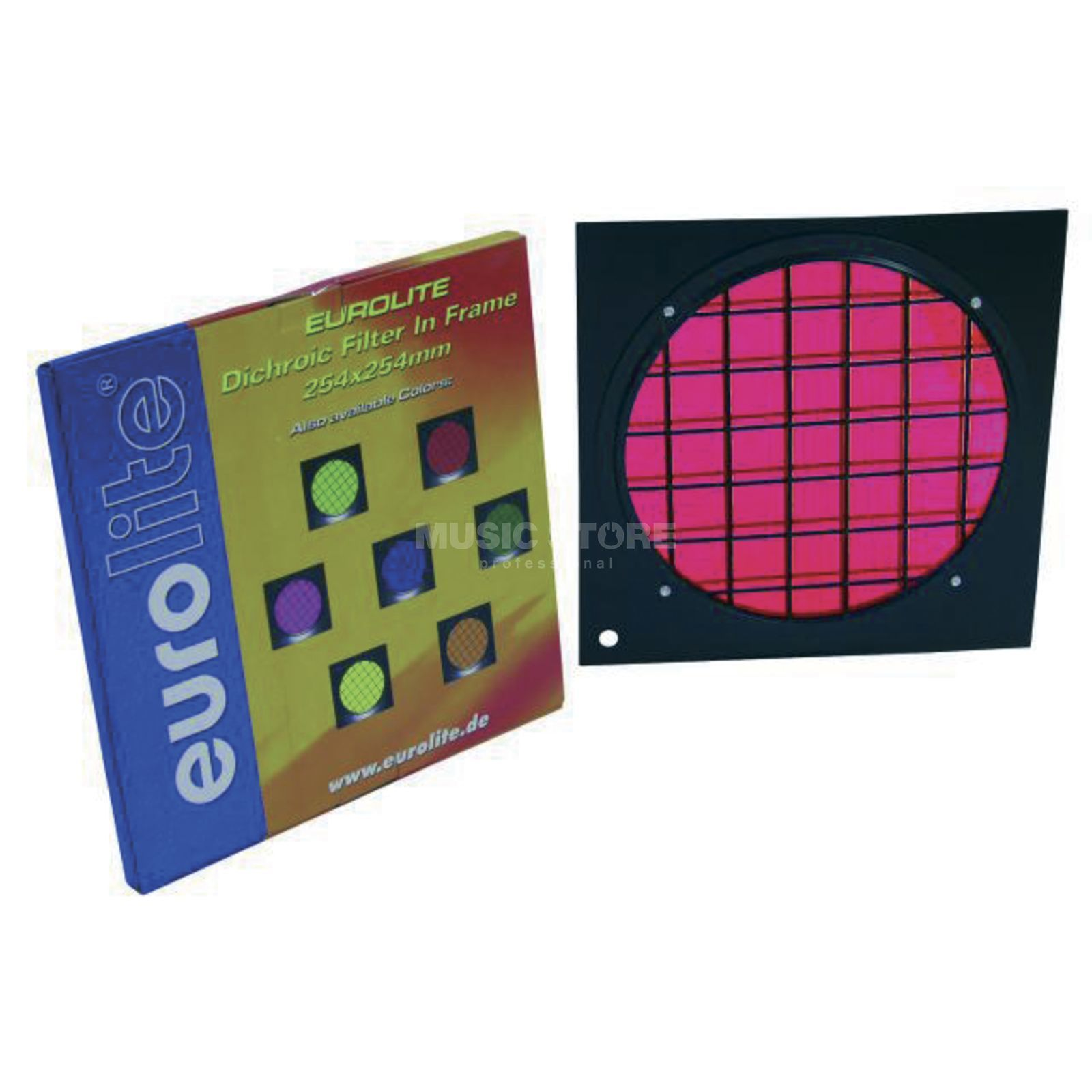 Eurolite Dichroic Filter PAR 64  - Red in Black Frame Produktbillede