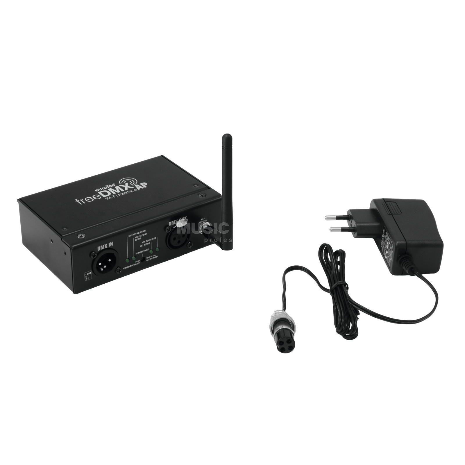 Eurolite freeDMX AP Wi-Fi Interface WLAN-DMX-Interface Imagem do produto