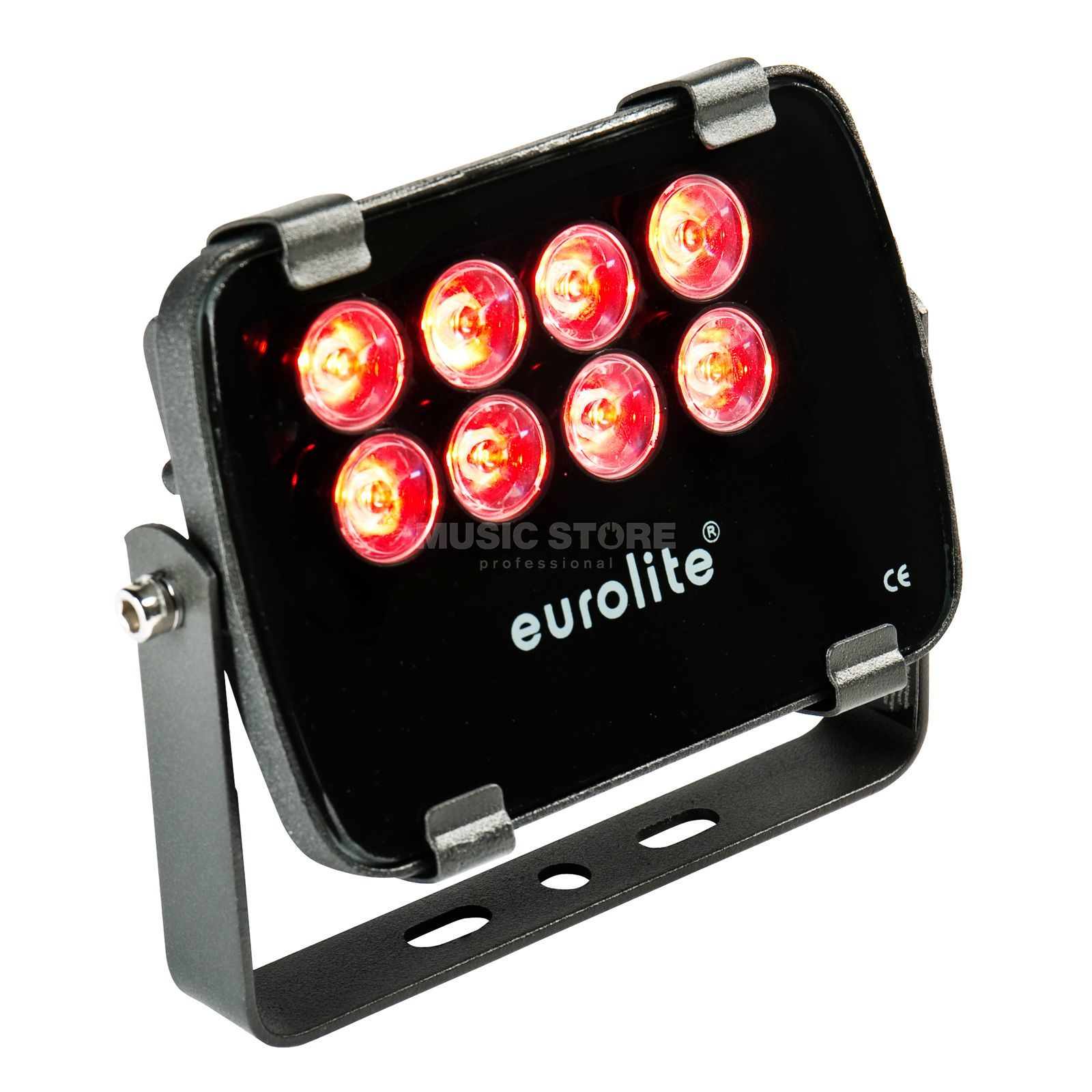 Eurolite LED IP FL-8 rot 30° IP 56, 8x1W Garden Light Produktbillede