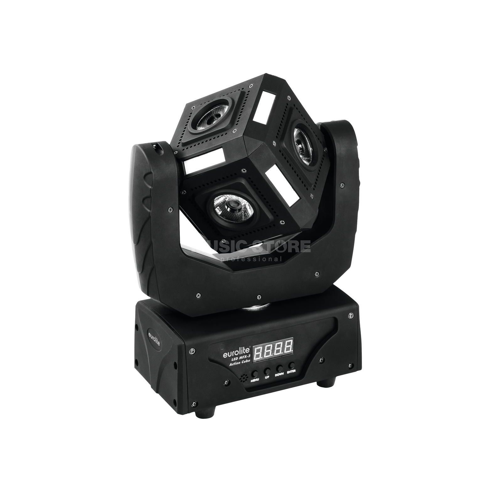 Eurolite LED MFX-3 Action Cube RGBW Beam Moving Head Produktbillede