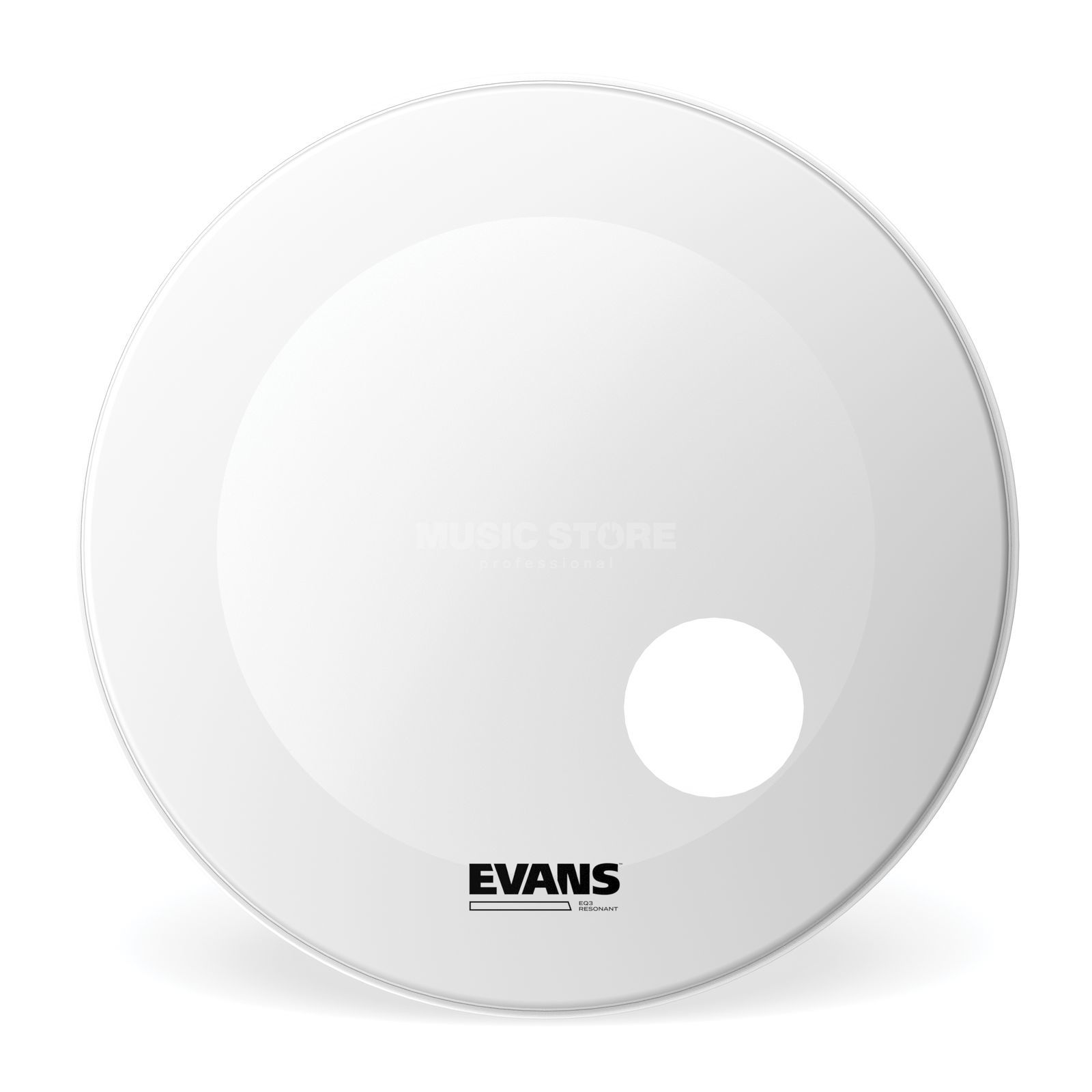 "Evans EQ3 Coated White 20"", BD20RGCW Bass Drum Reso Produktbild"