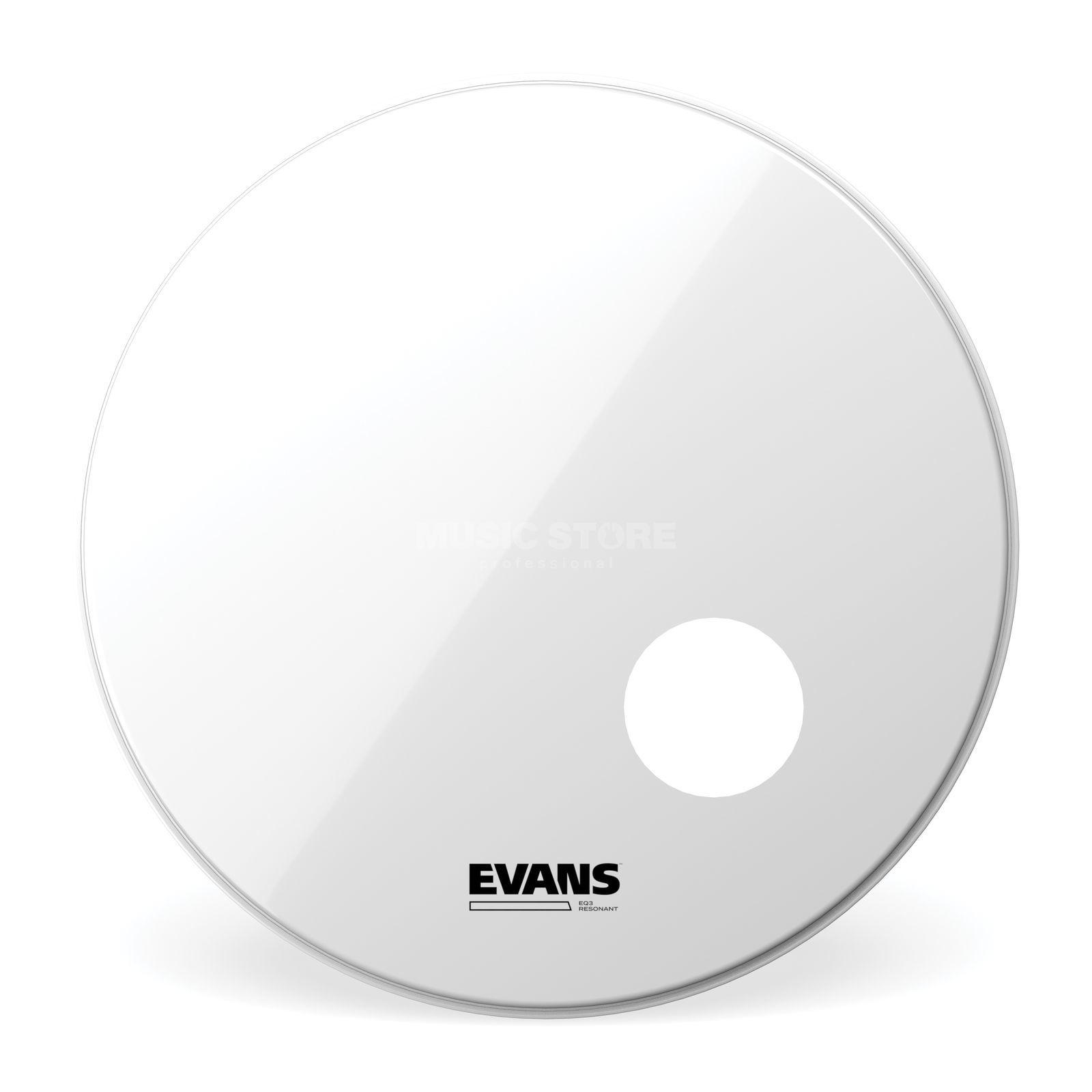 "Evans EQ3 Smooth White 20"", BD20RSW, Bass Drum Reso Product Image"