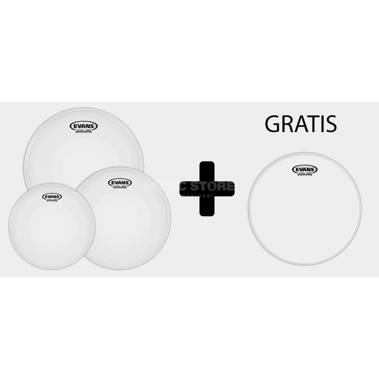 "Evans G2 Coated Rock Pack 10"",12"",16"" + Powercenter RD Imagem do produto"