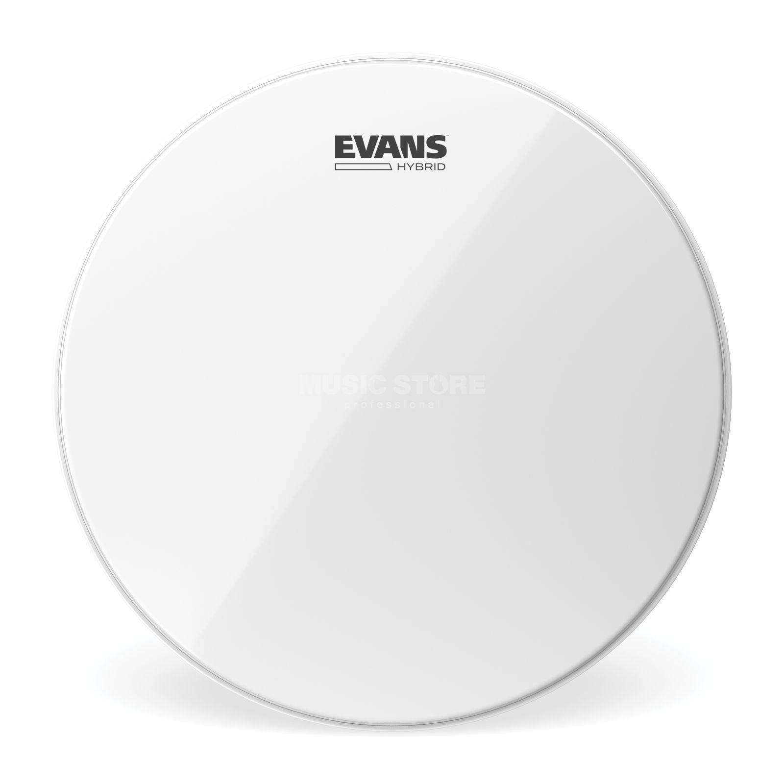 "Evans Hybrid 14"", SB14MHW, White, Marching Snare Batter Product Image"