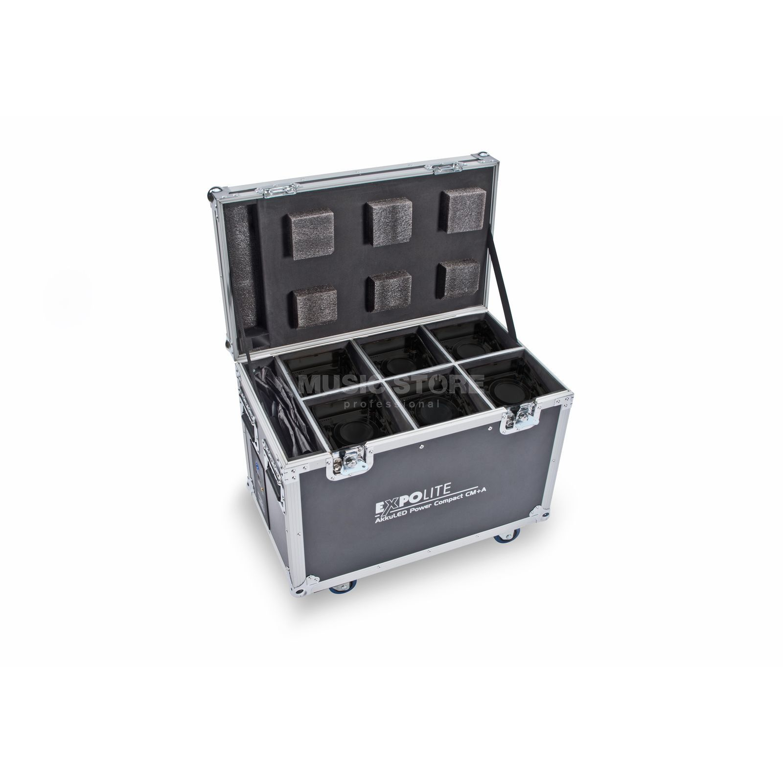 Expolite AkkuLED Power Compact 6-fach Case m. integr. Ladestation Product Image
