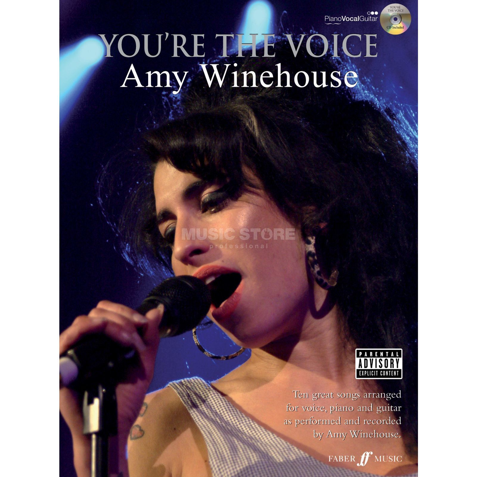 Faber Music You're the voice - A Winehouse mit Playback CD, PVG Produktbild