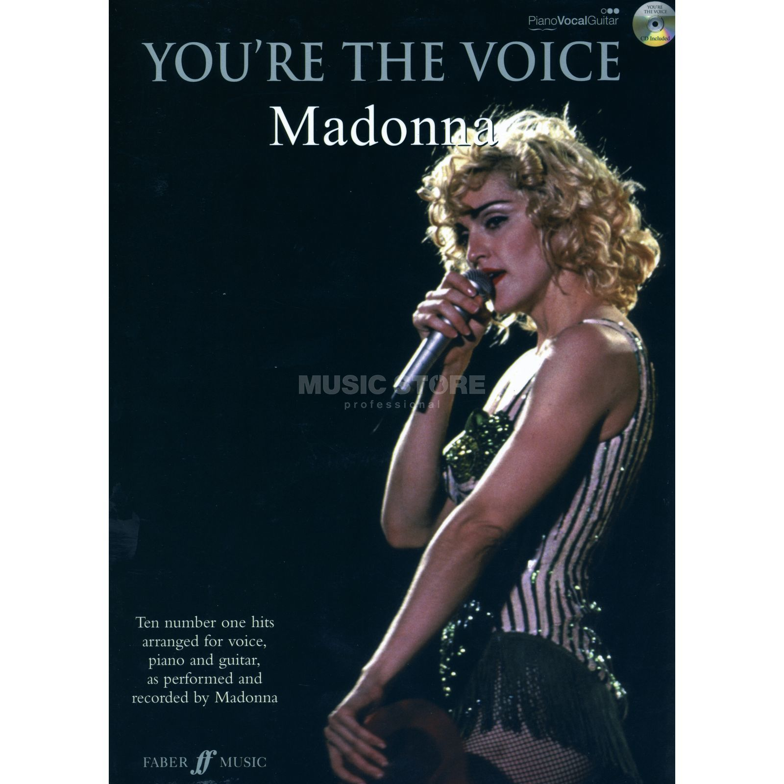 Faber Music You're the voice - Madonna mit Playback CD, PVG Produktbild