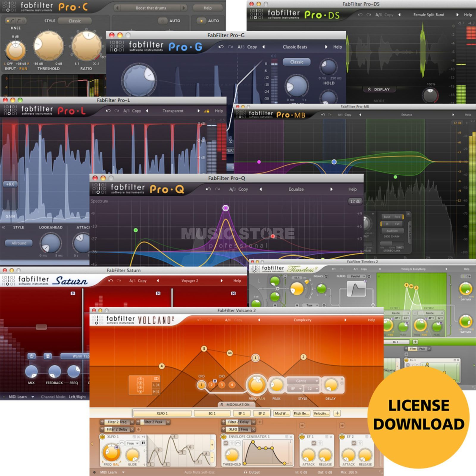 Fabfilter FX Bundle License Code Produktbillede