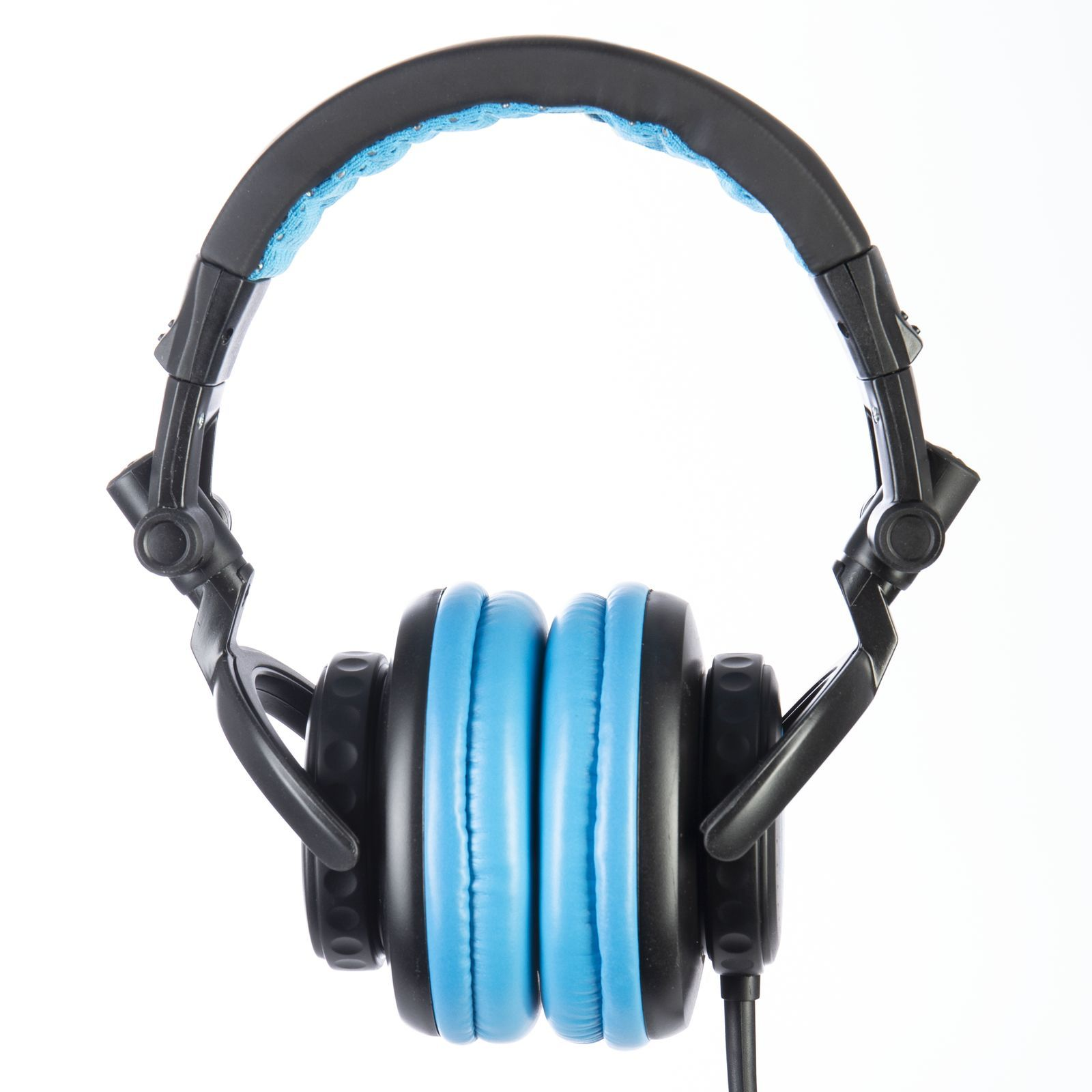 Fame audio hD-1000 Blue DJ Headphones Black And Blue, 3m Cable Изображение товара