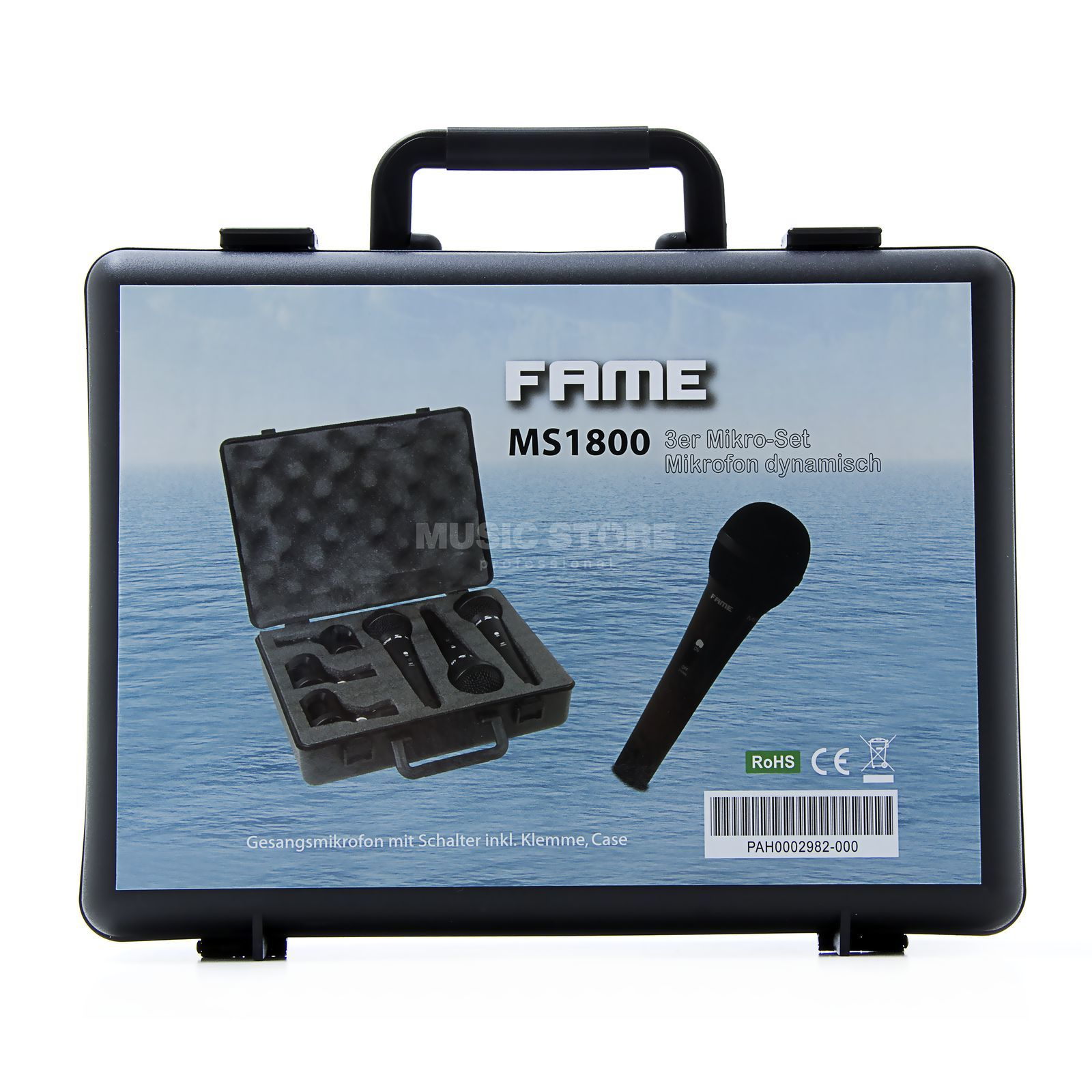Fame audio MS 1800 S 3er Micro-Set dynamic Microphone, switch Produktbillede