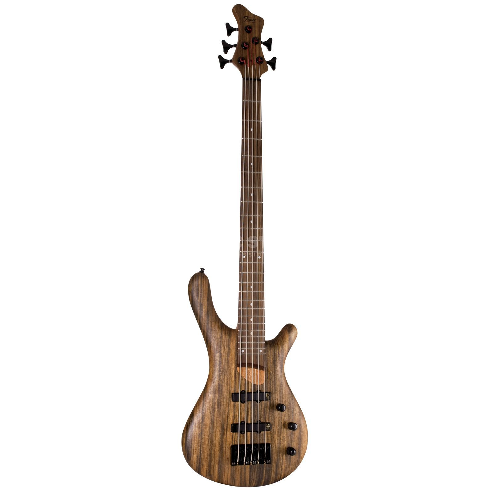 Fame Baphomet 5 Natural 5-String E- Bass Guitar, Natural Oil Product Image