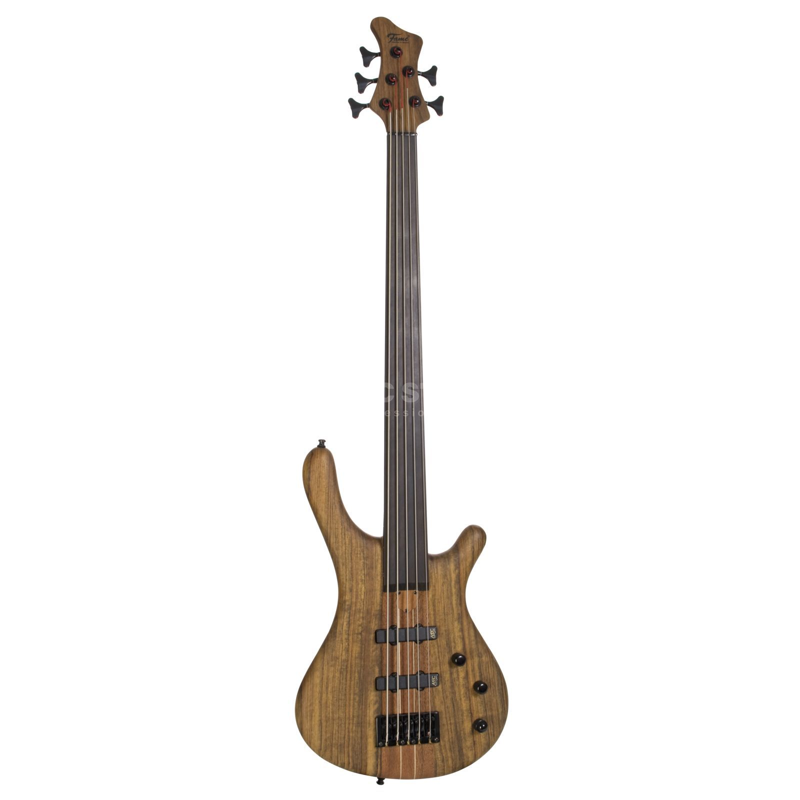 Fame Baphomet 5 NTB Fretless 5-Stri ng E-Bass Guitar, Natural Oil Product Image