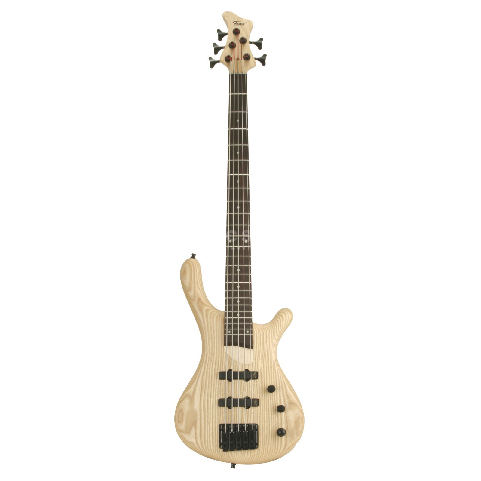 Fame Baphomet Blonde 5, 5-String E- Bass Guitar, Oil Finish Produktbillede