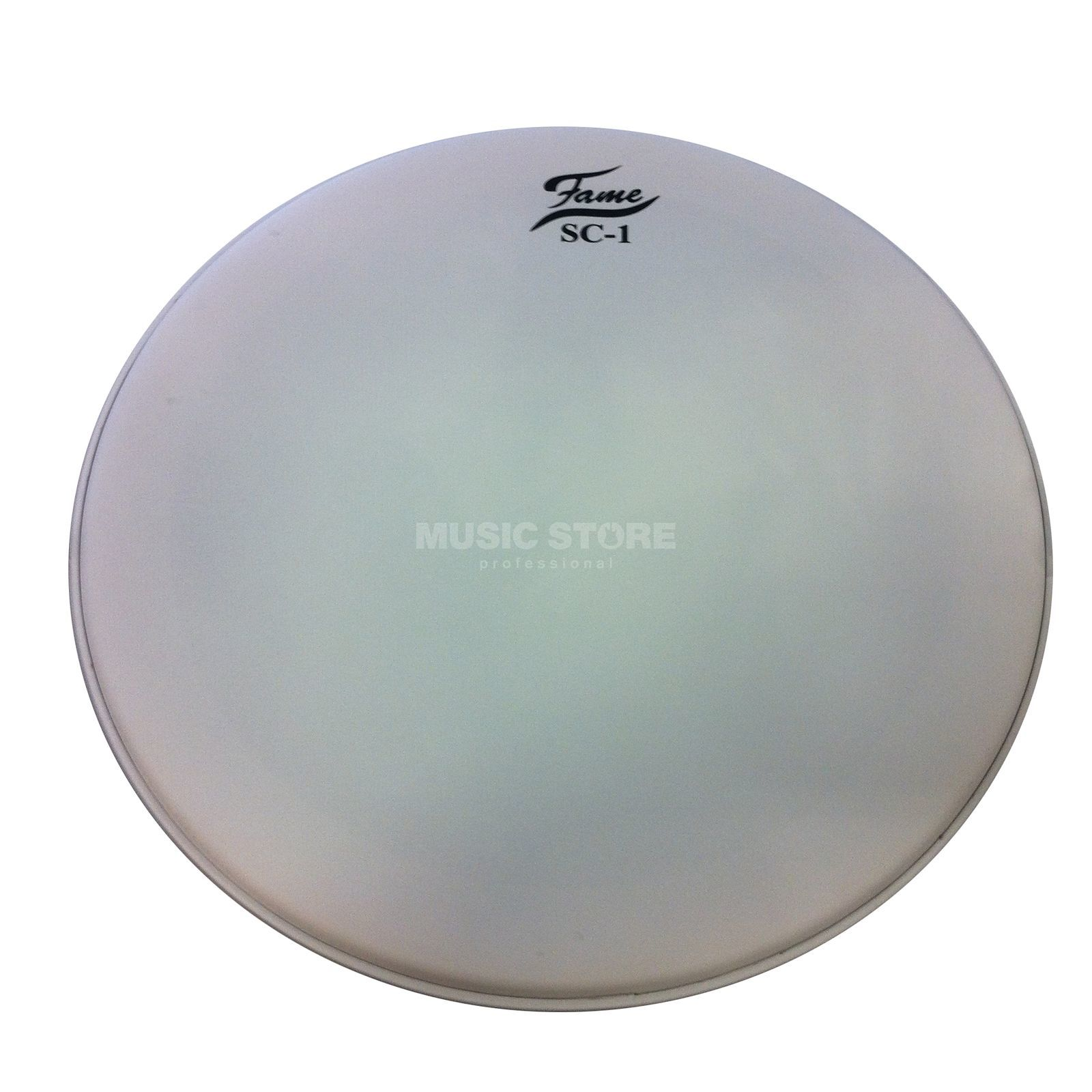 "Fame Bass Drum Head SC1 22"", Coated White, Sound Control, w/Logo Produktbillede"